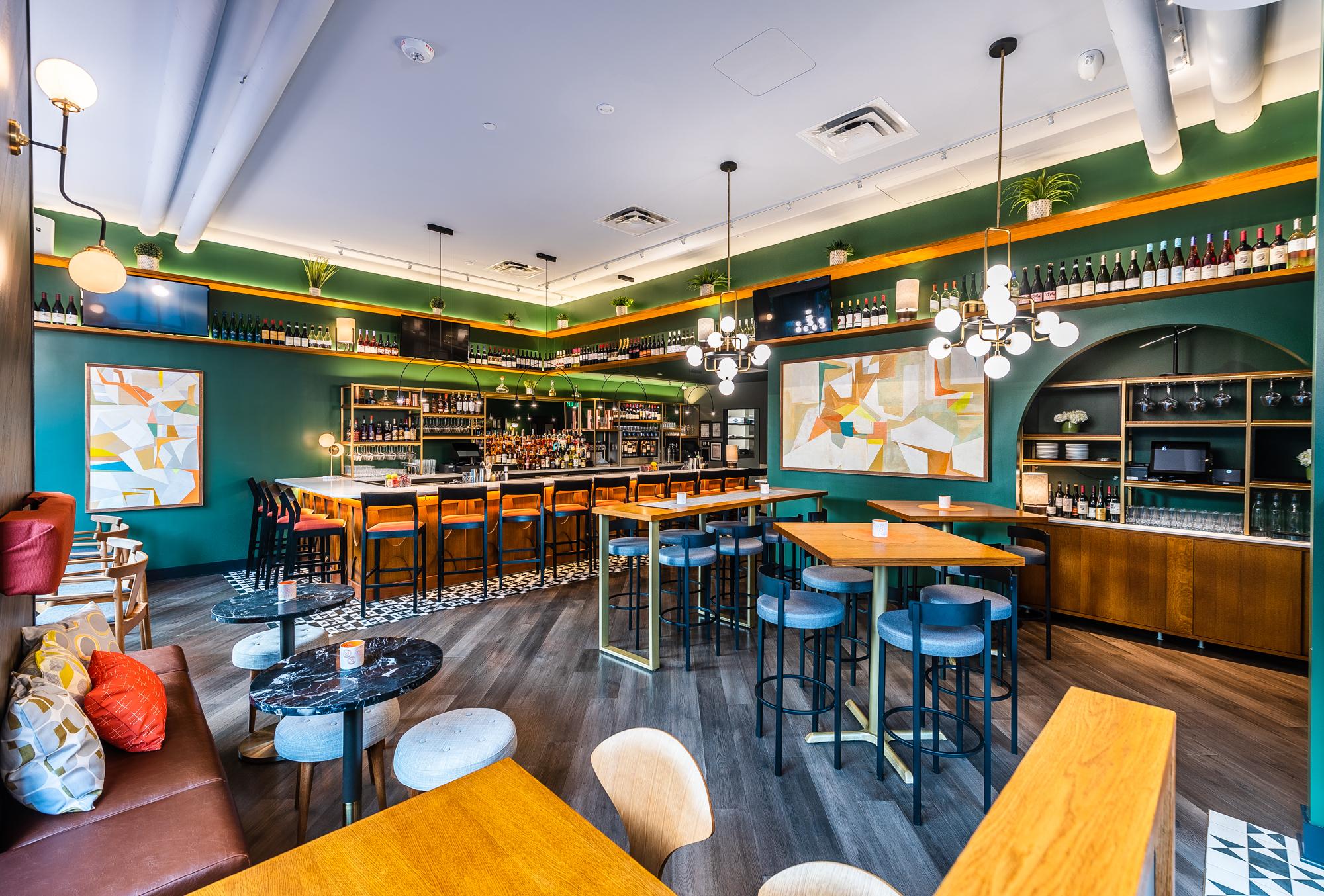 Capitol Hill's Dazzling New Wine Bar Looks Like a Retro Study