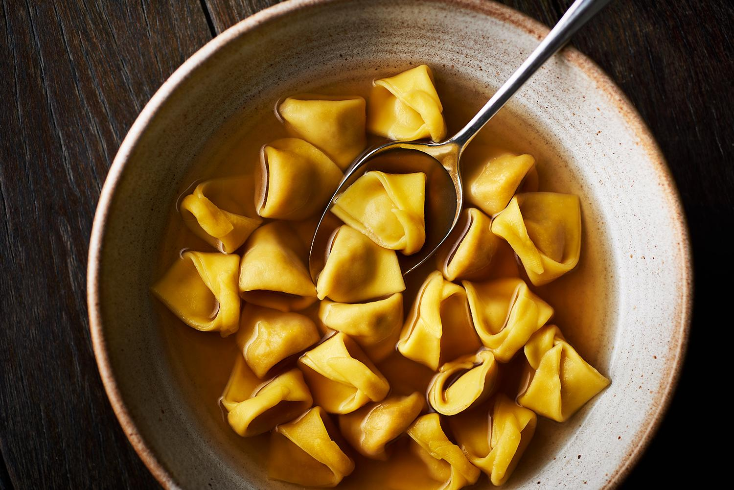 London's best new restaurants include Manteca, which serves these tortellini in brodo