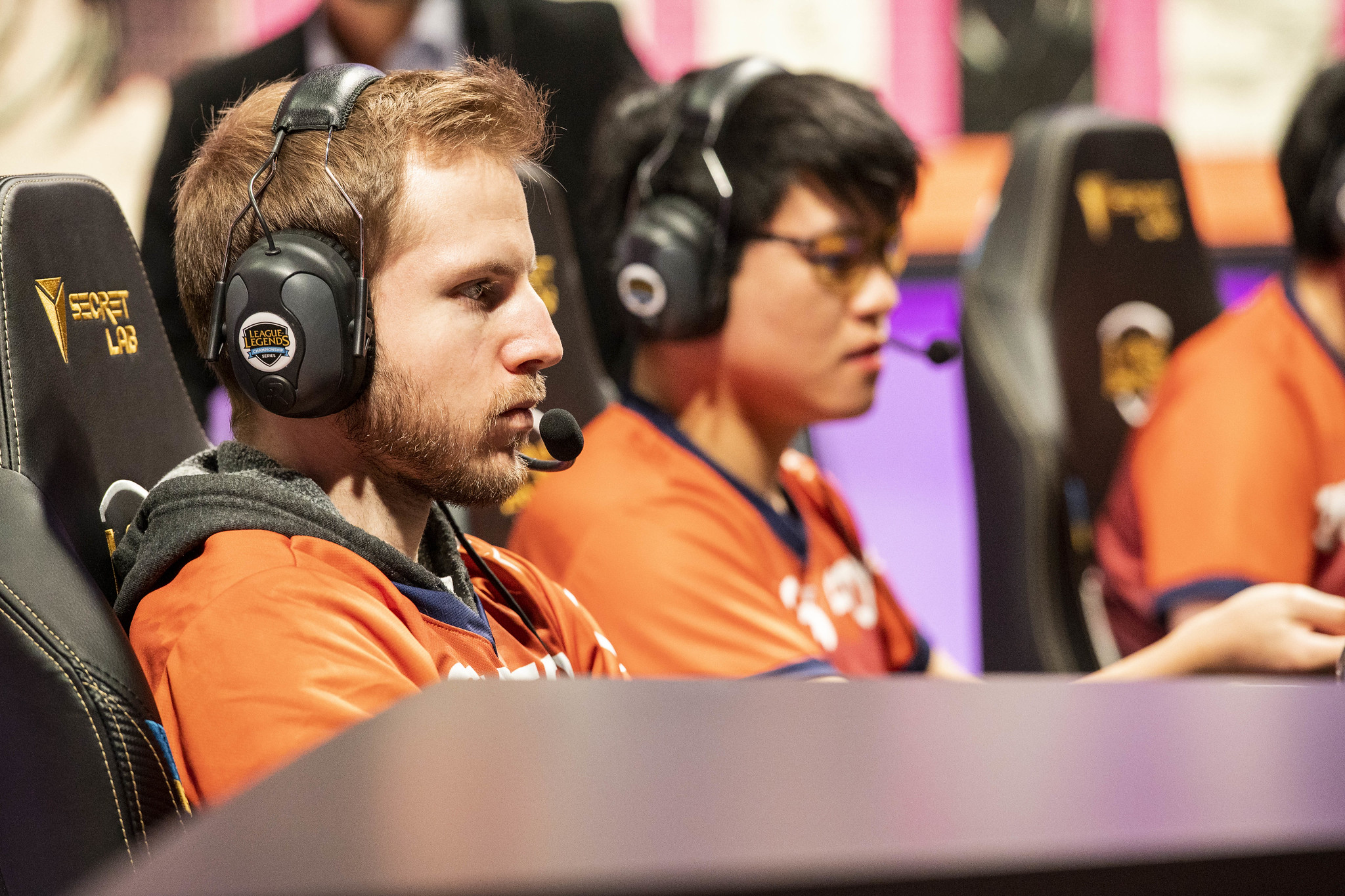 "Echo Fox's Colin ""Solo"" Earnest looks serious while playing an LCS match"
