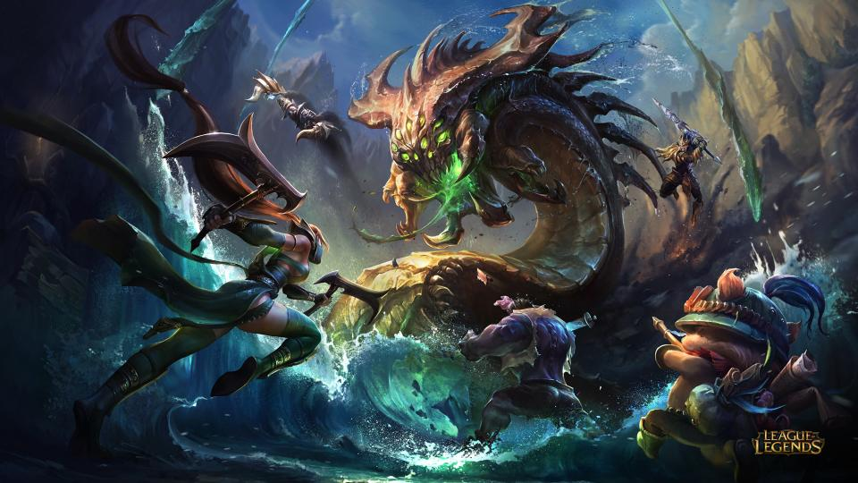 League of Legends champions hone in to take on Baron Nashor