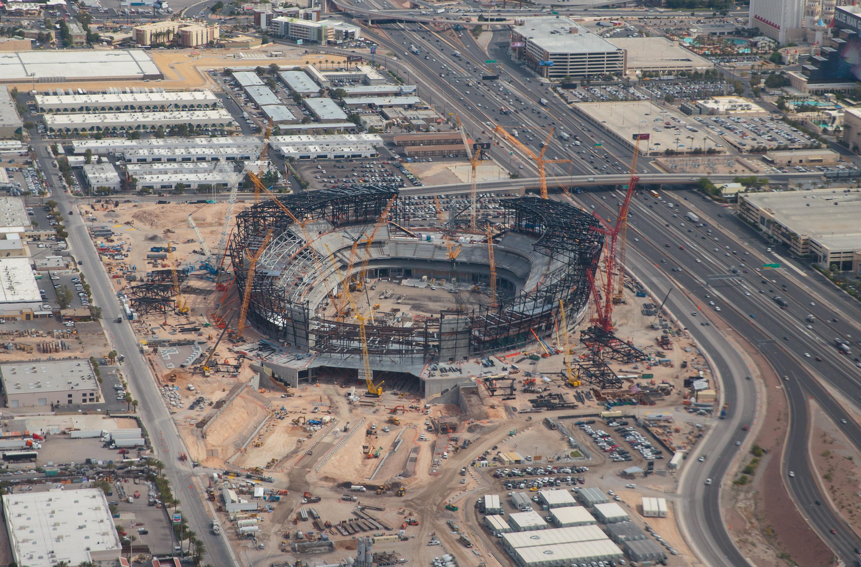 NFL: Las Vegas Stadium Construction Aerials