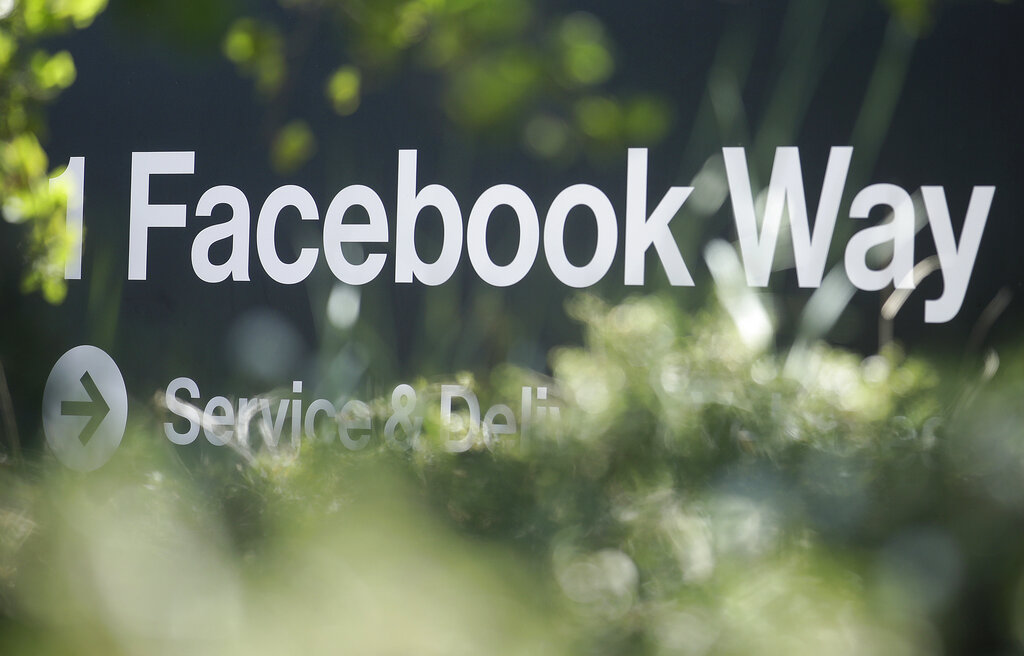 Street sign for Facebook Way in Menlo Park, California