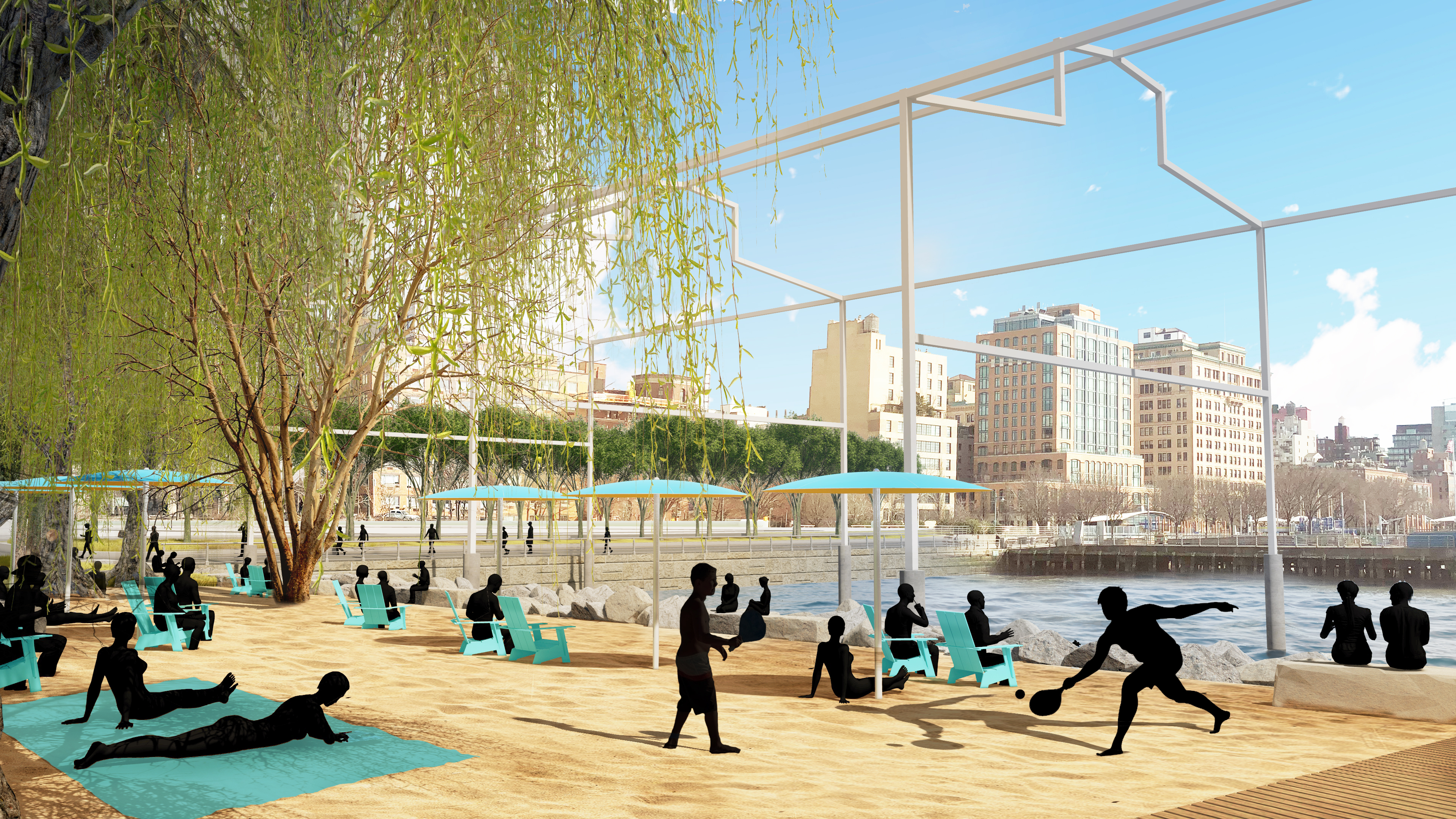 First look at Gansevoort Peninsula Park along the Hudson River
