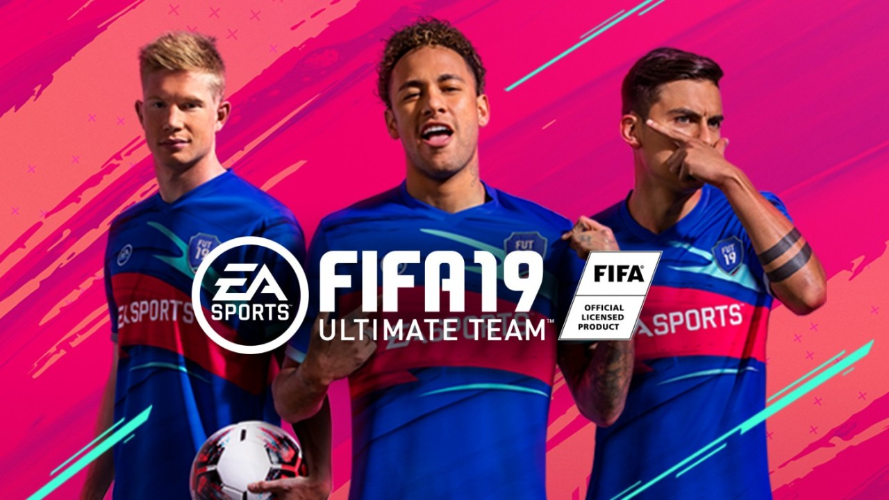 A promotional image for FIFA 19's Ultimate team mode