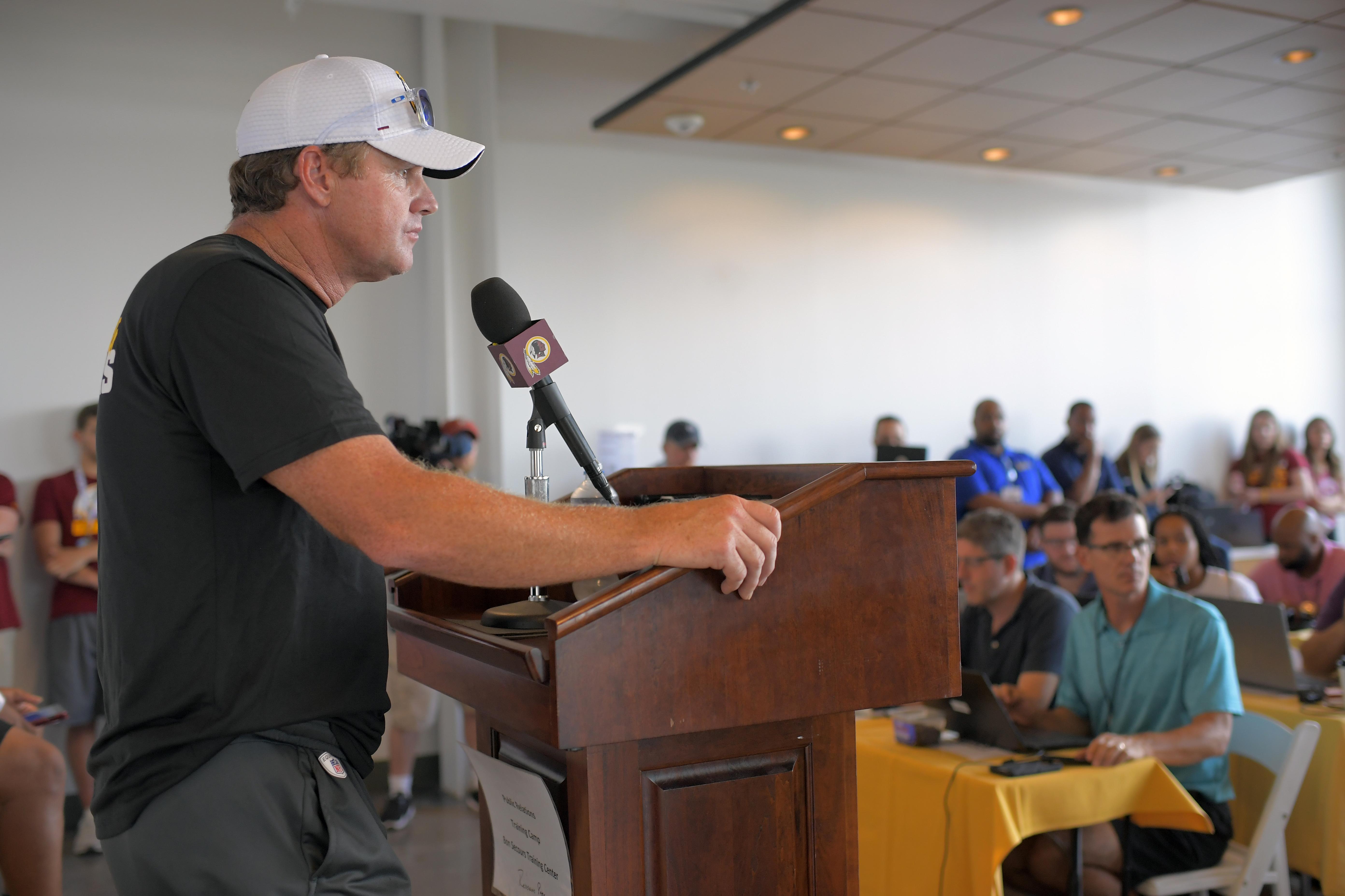 Redskins head coach Jay Gruden