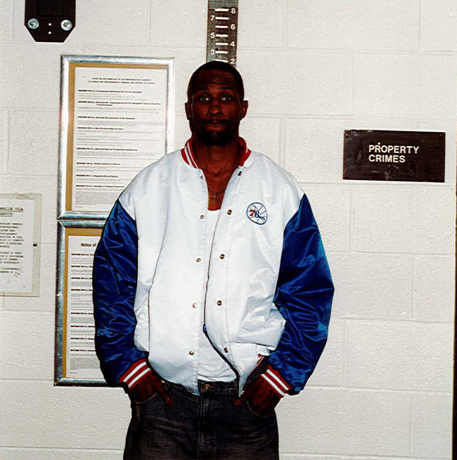 Four Corner Hustlers enforcer Sammie Booker's 2003 arrest photo after he was charged with armed robbery in Chicago.
