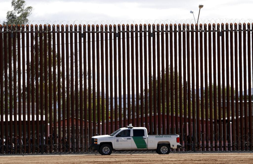 Border wall in El Centro, California