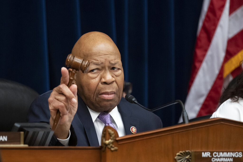 House Oversight and Reform Committee Chair Elijah Cummings, D-Md., leads a meeting at Capitol Hill