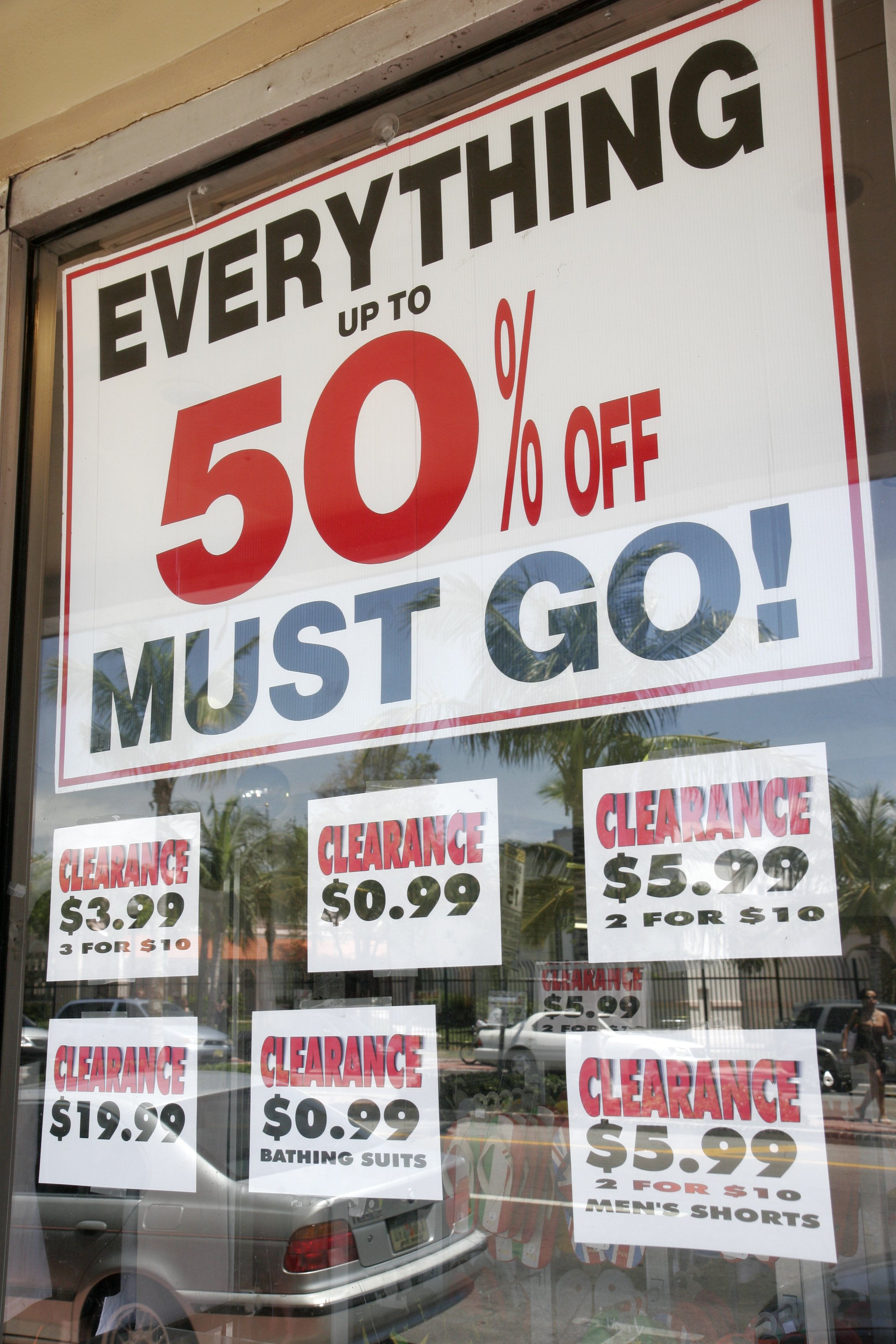 Store Window Everything Must Go Sign