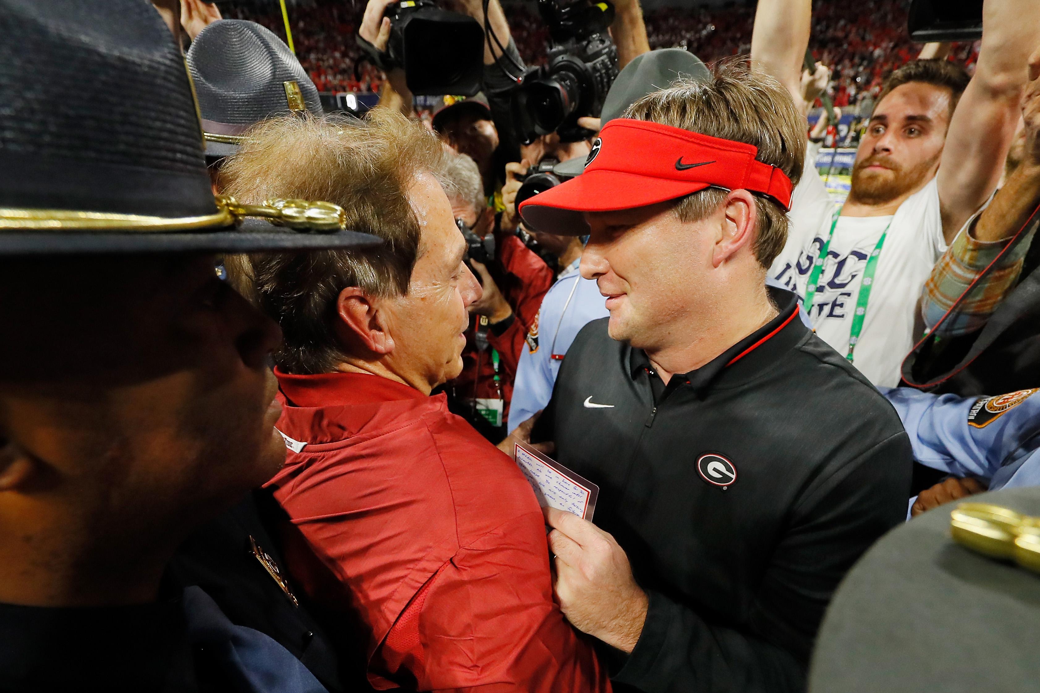 """<p zoompage-fontsize=""""15"""" style="""""""">SEC Championship - Alabama v Georgia"""