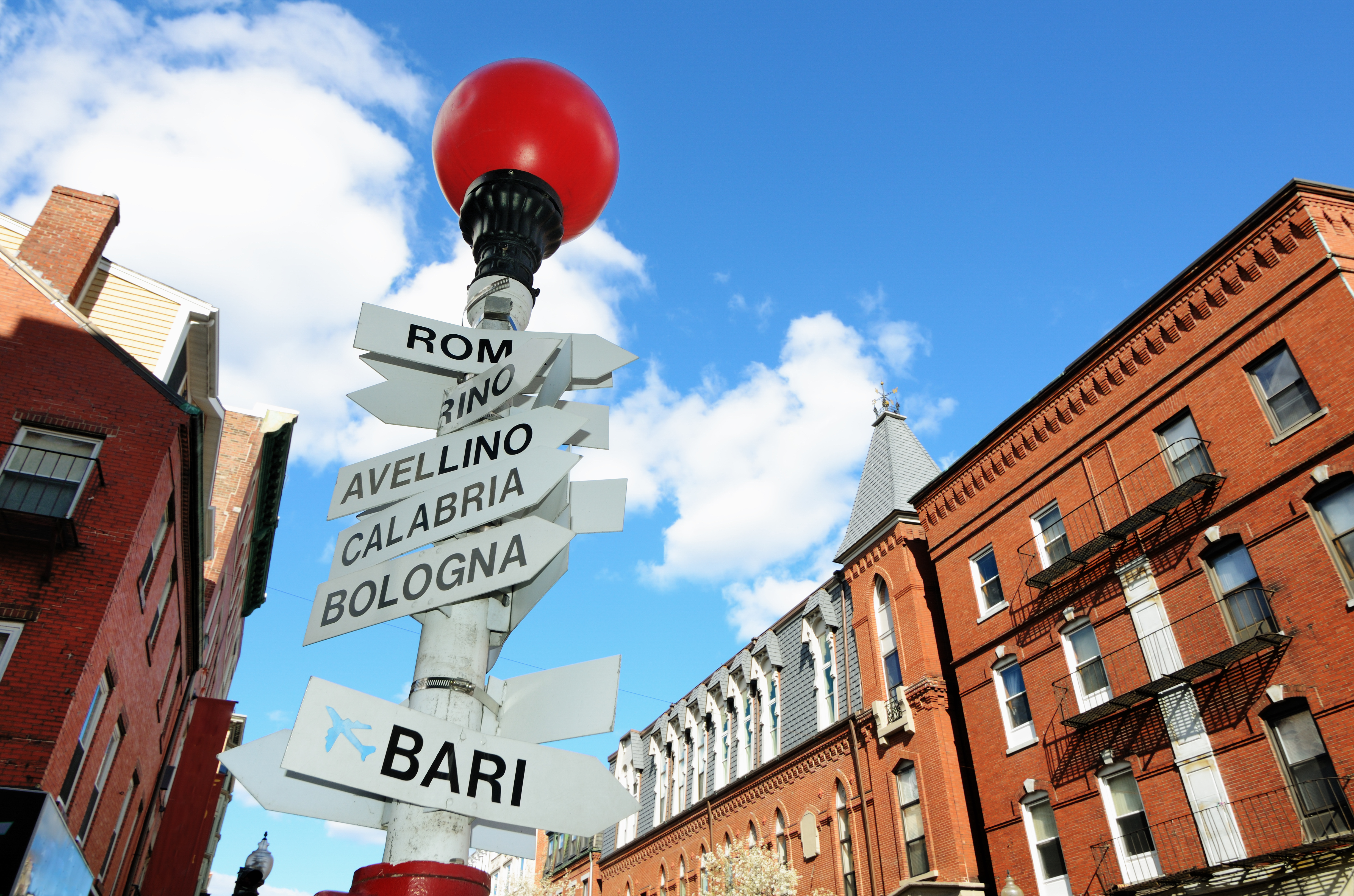 Street signs in Boston's North End.
