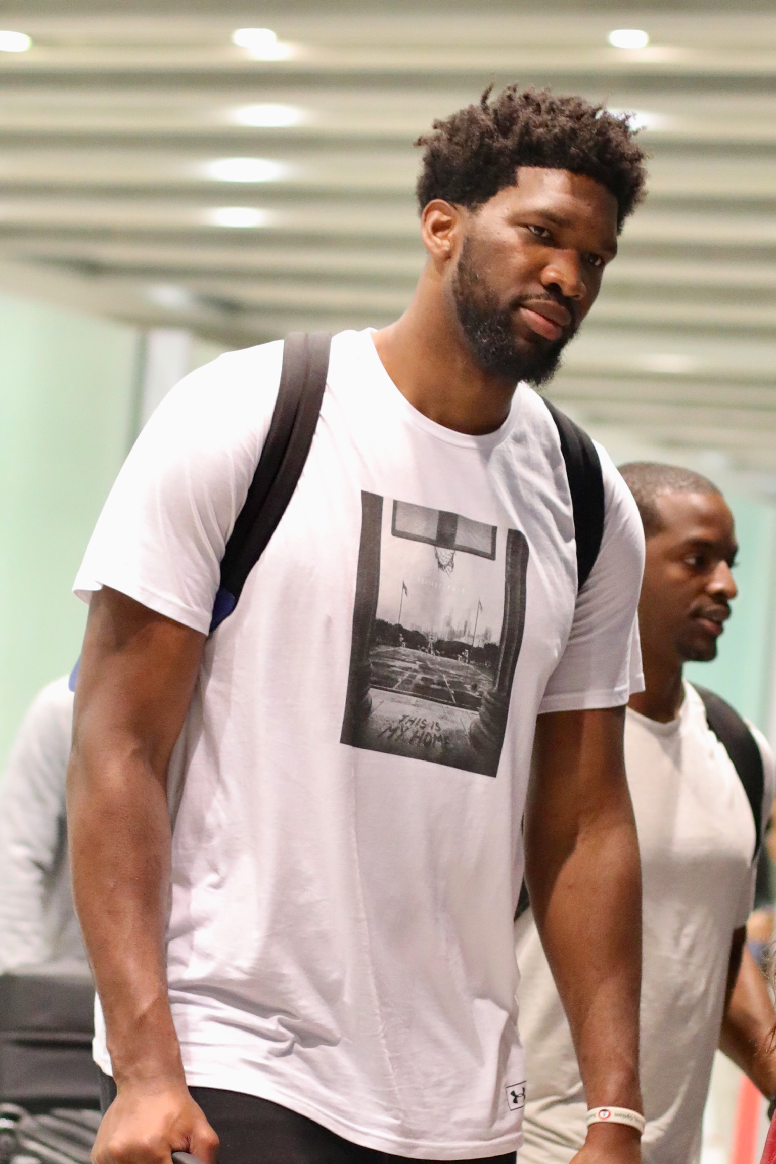 Joel Embiid Arrives In Beijing