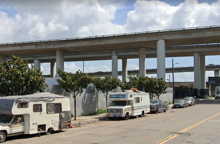 An overpass in San Francisco.