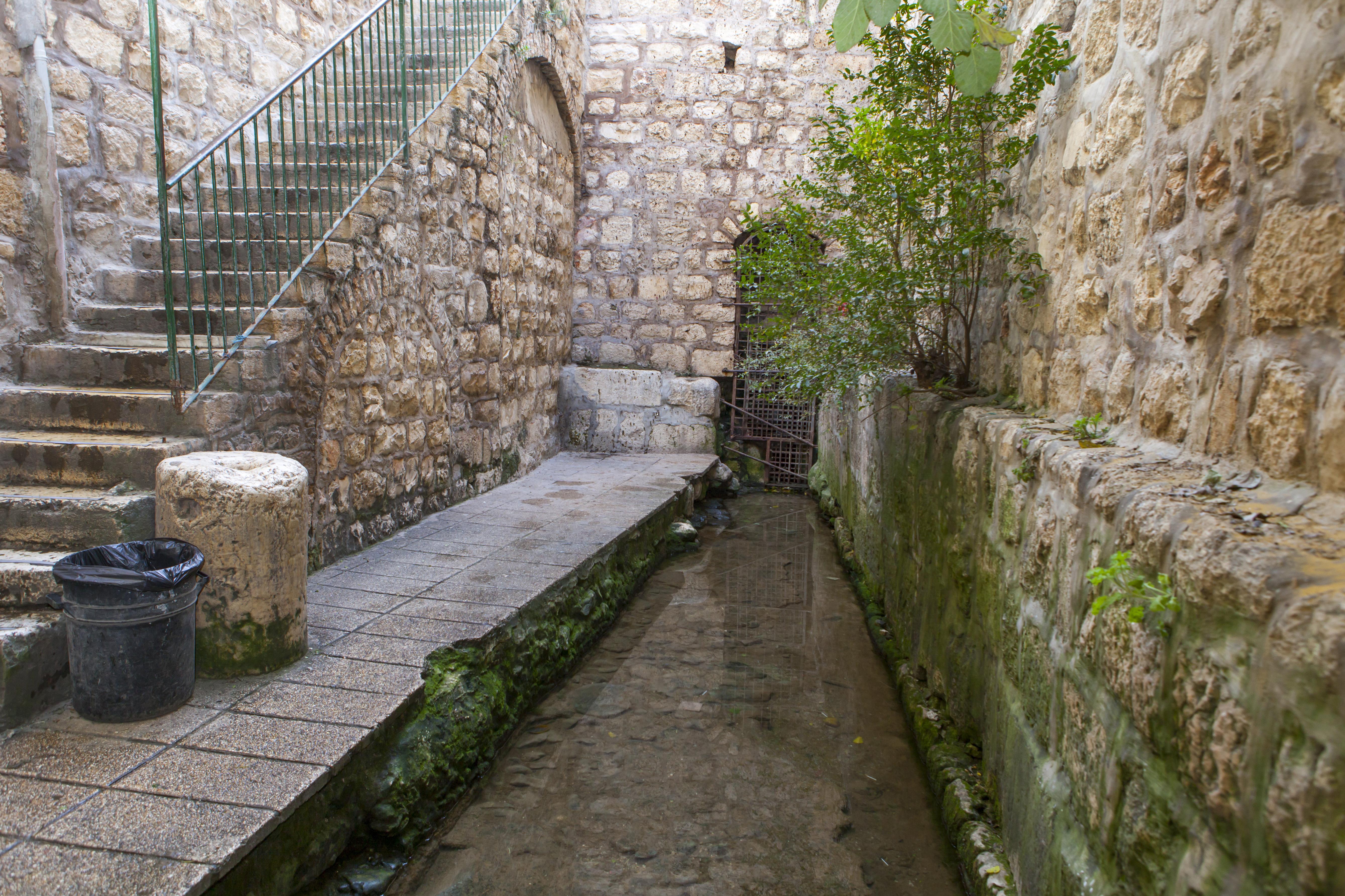 The Pool of Siloam in Jerusalem.
