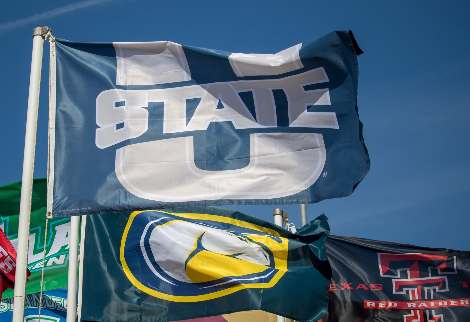 Flag at 2018 NCAA West Preliminary Championships in Sacramento, Calif.