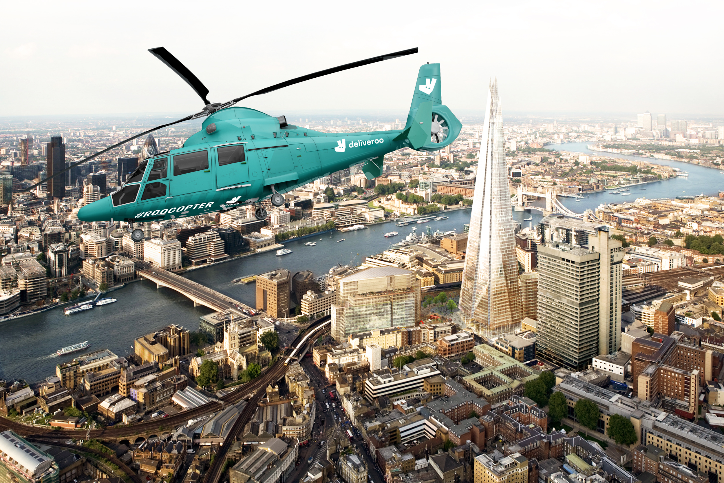 Food delivery service Deliveroo adds helicopter to London food delivery options