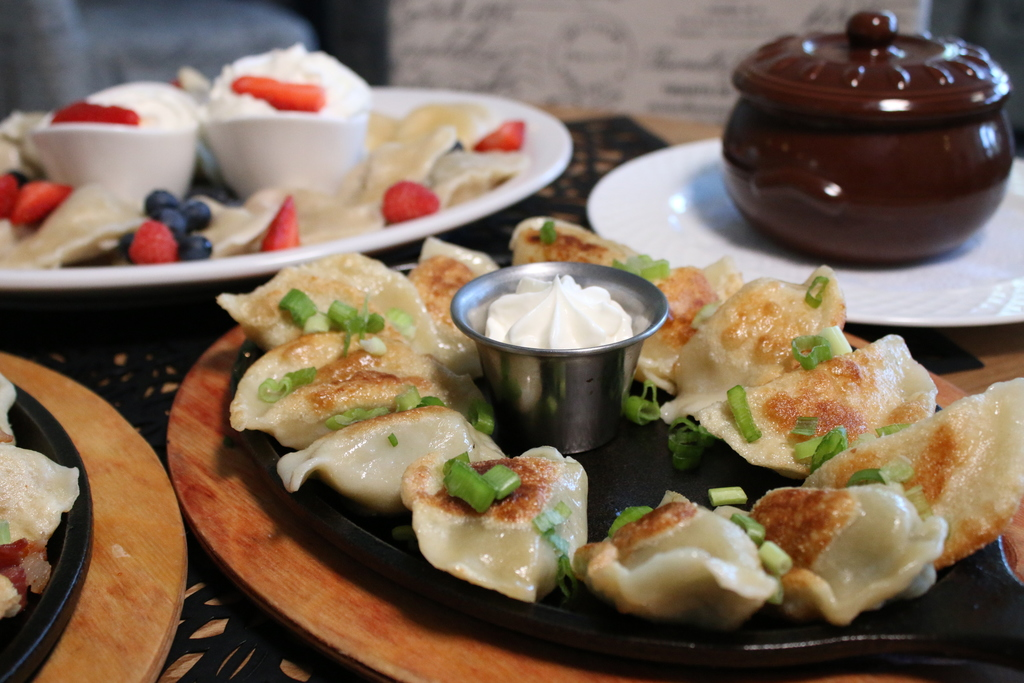 Savory Pierogis served at Ewa's Pierogi in Glenview.