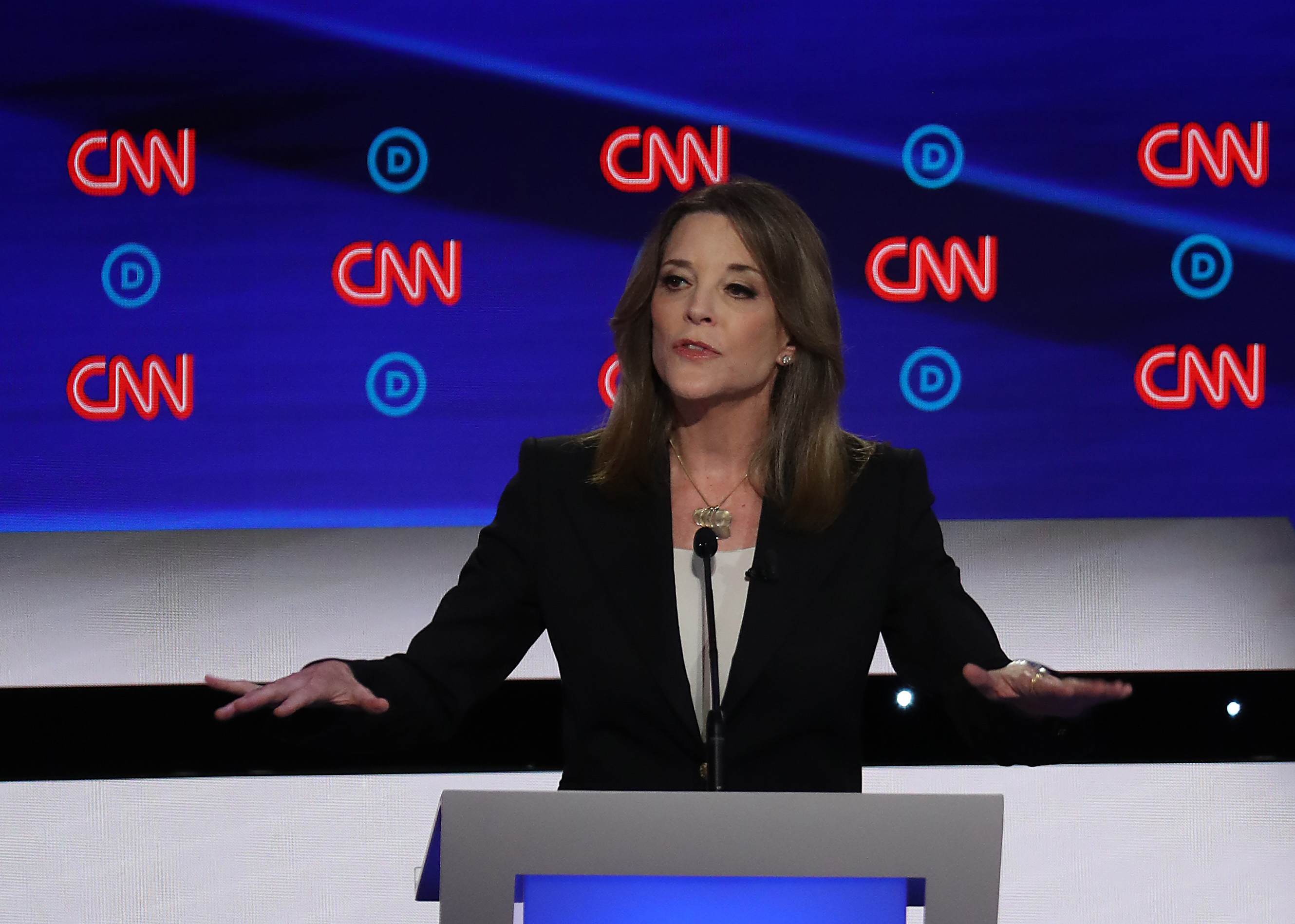 Marianne Williamson at the July debate.