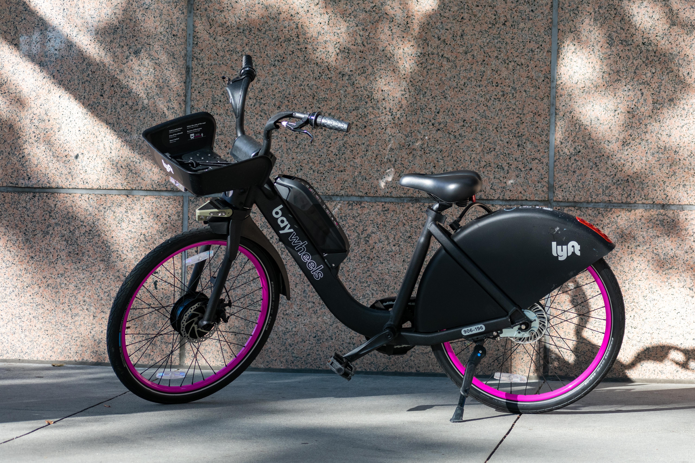 Lyft bike in San Francisco.