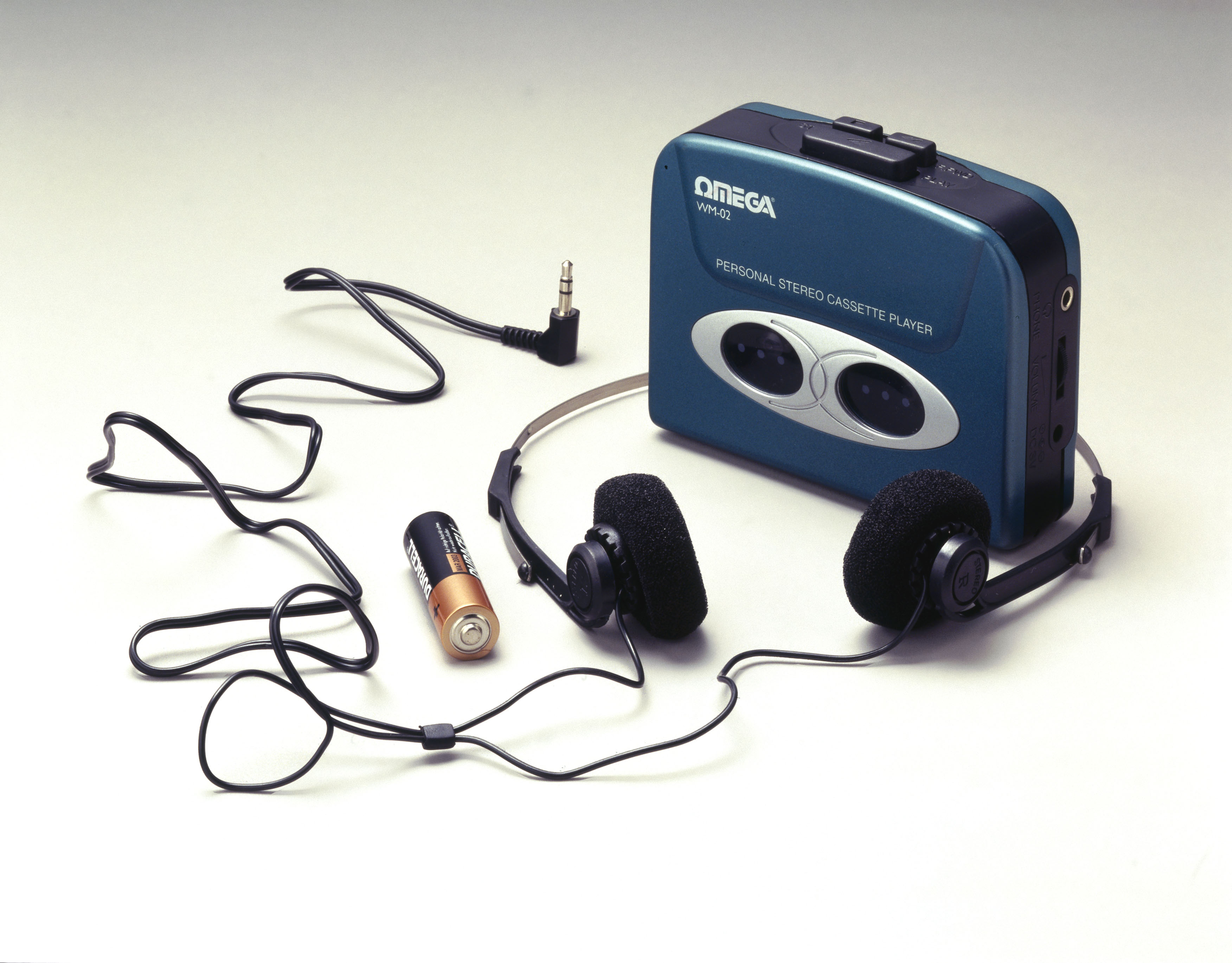 Omega personal stereo cassette player, c 1998.