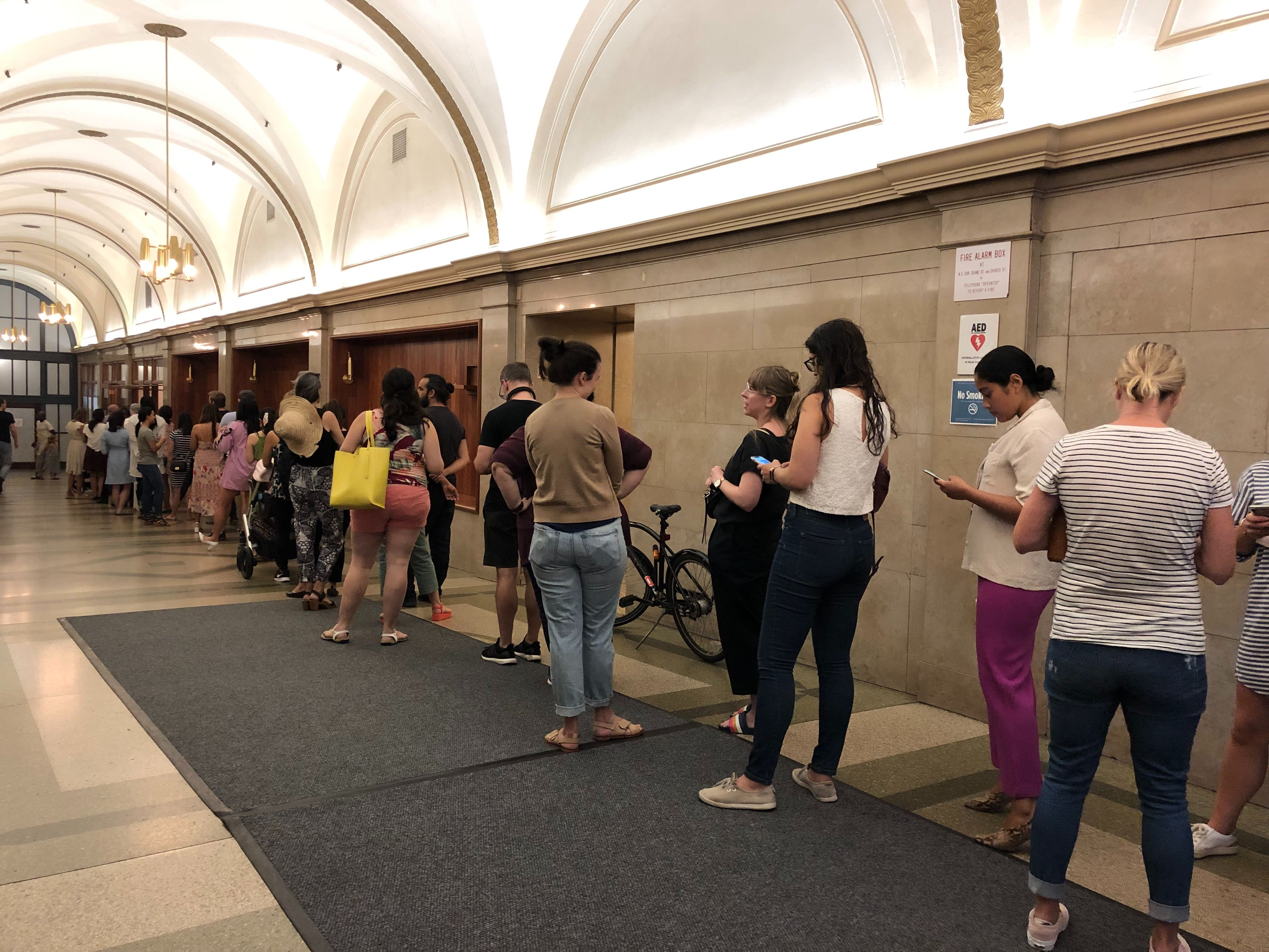 The line during Arcade's last week