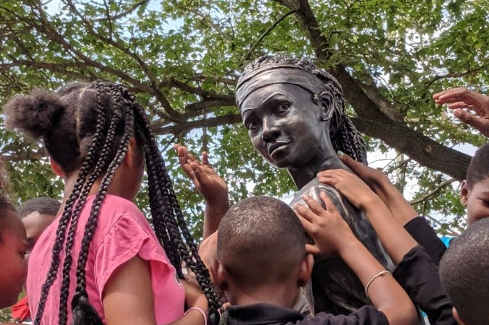 City erects its first statue of an African American girl in South Philly