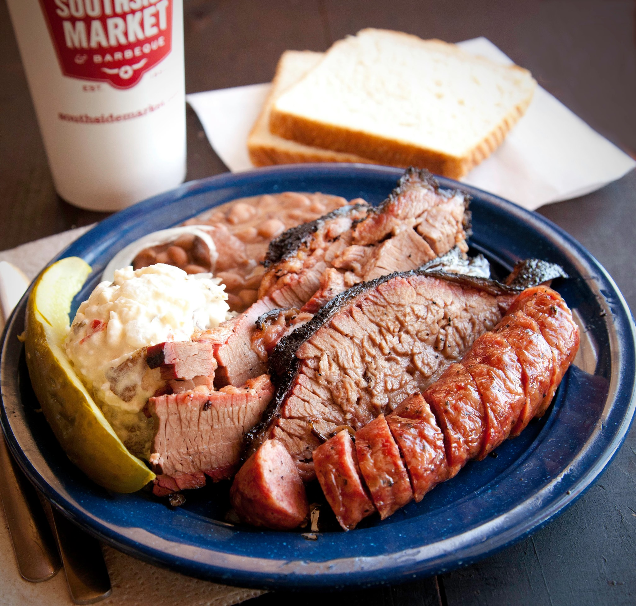 A barbecue plate from Southside Market