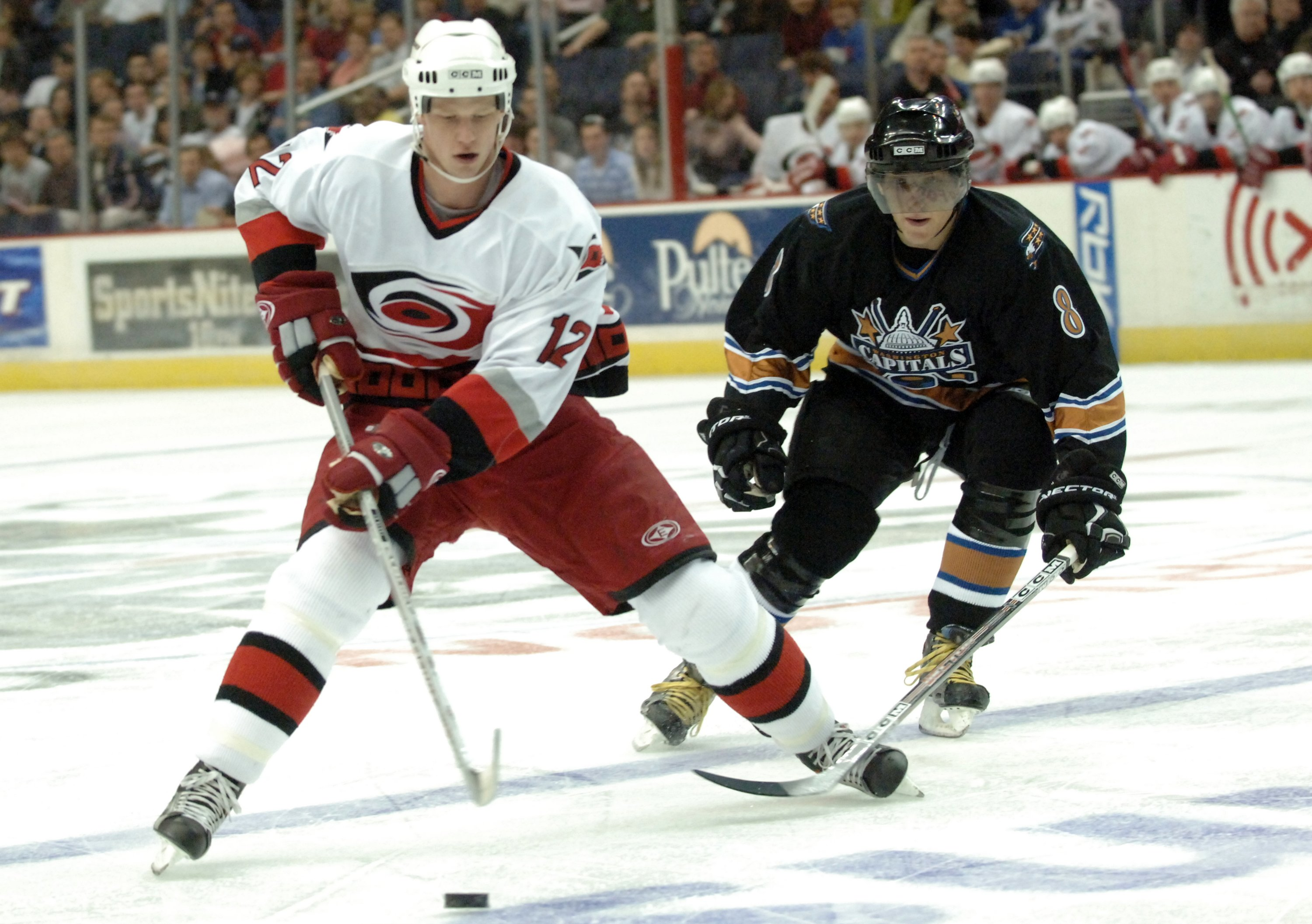 The Carolina Hurricanes' Eric Staal is shown during a game against the Washington Captials at the Verizon Center on Friday, April 7, 2006.