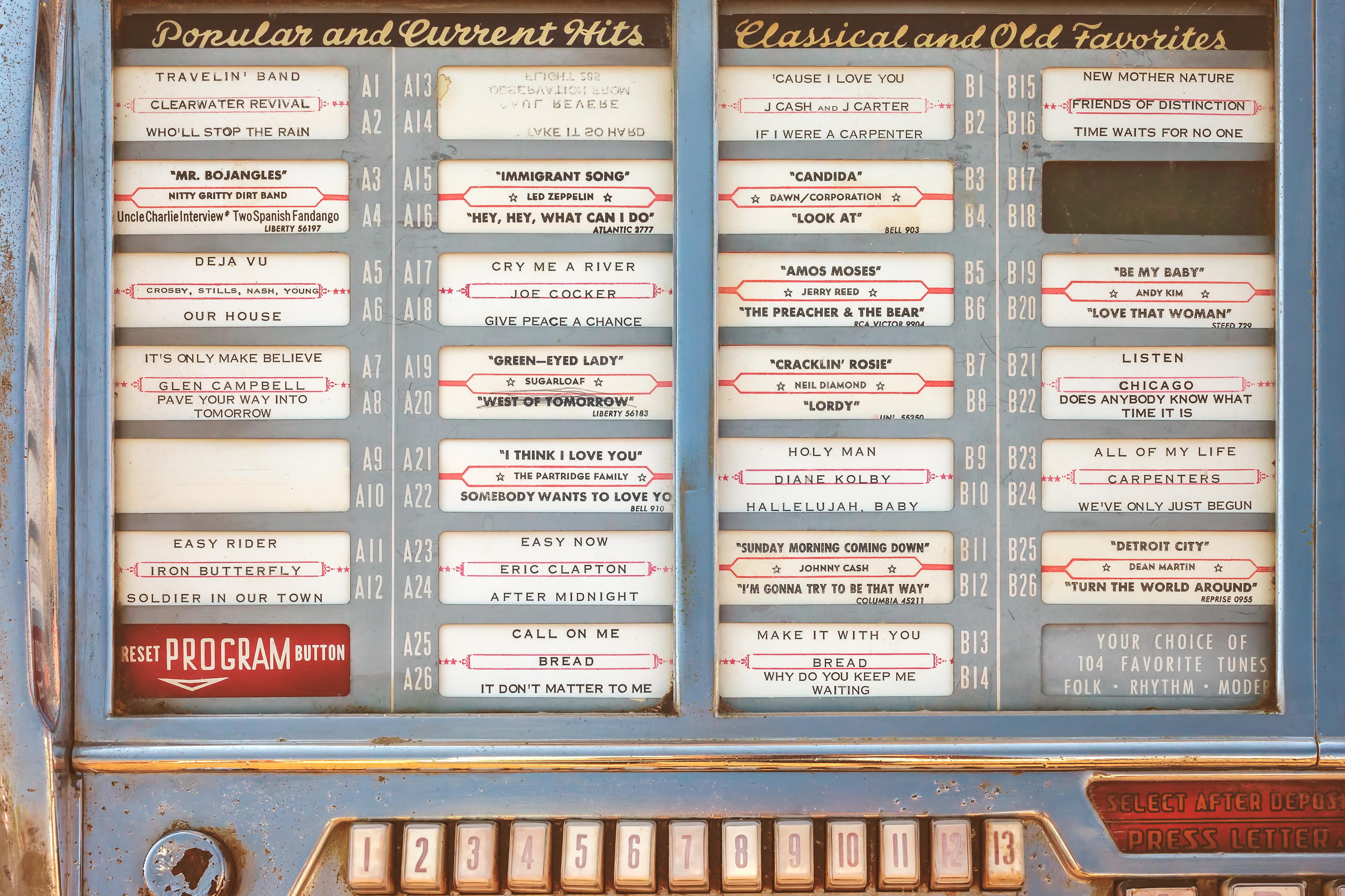 A retro diner jukebox.