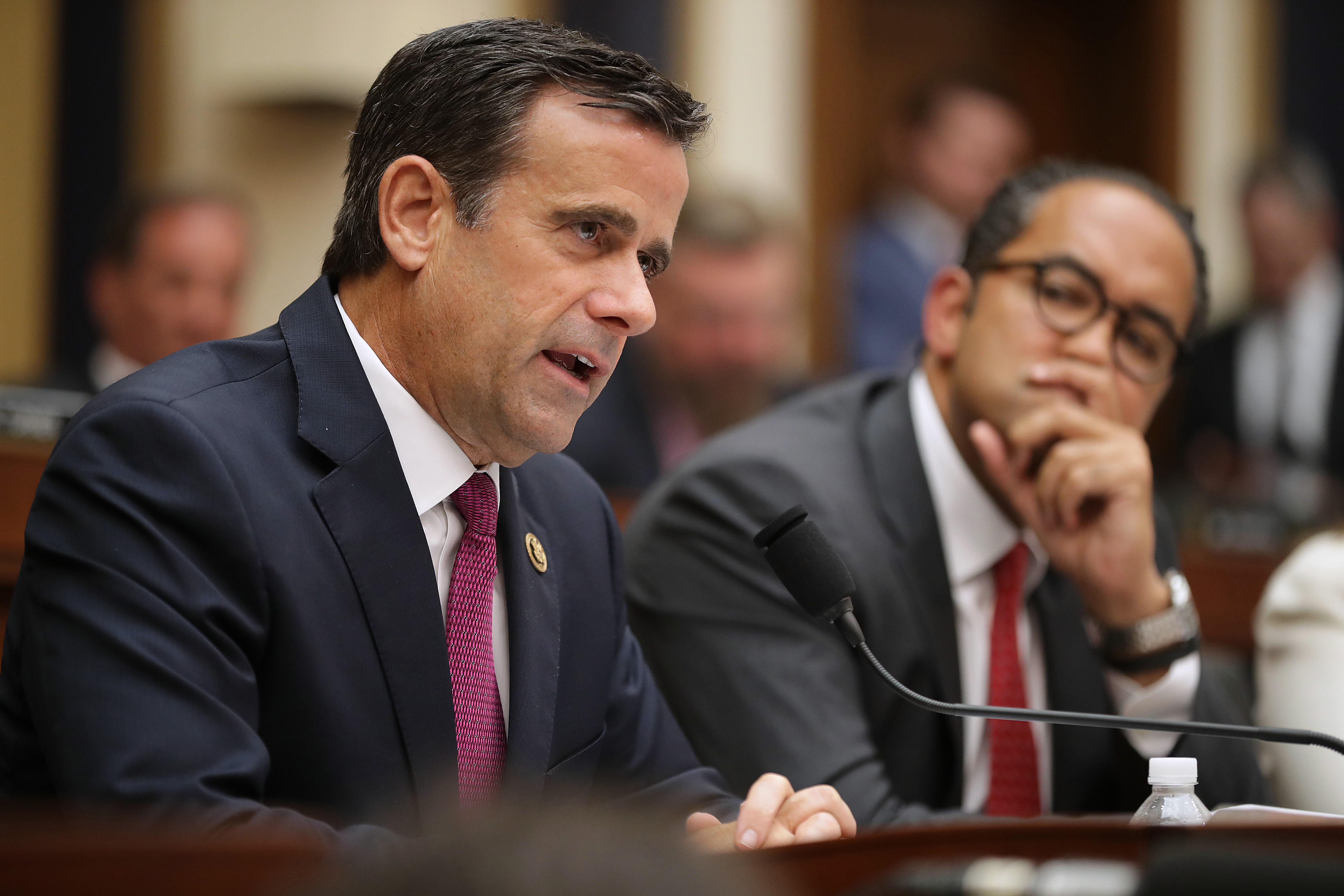 Rep. John Ratcliffe (R-TX) questions former special counsel Robert Mueller as he testifies before the House Intelligence Committee on July 24, 2019 in Washington, DC.