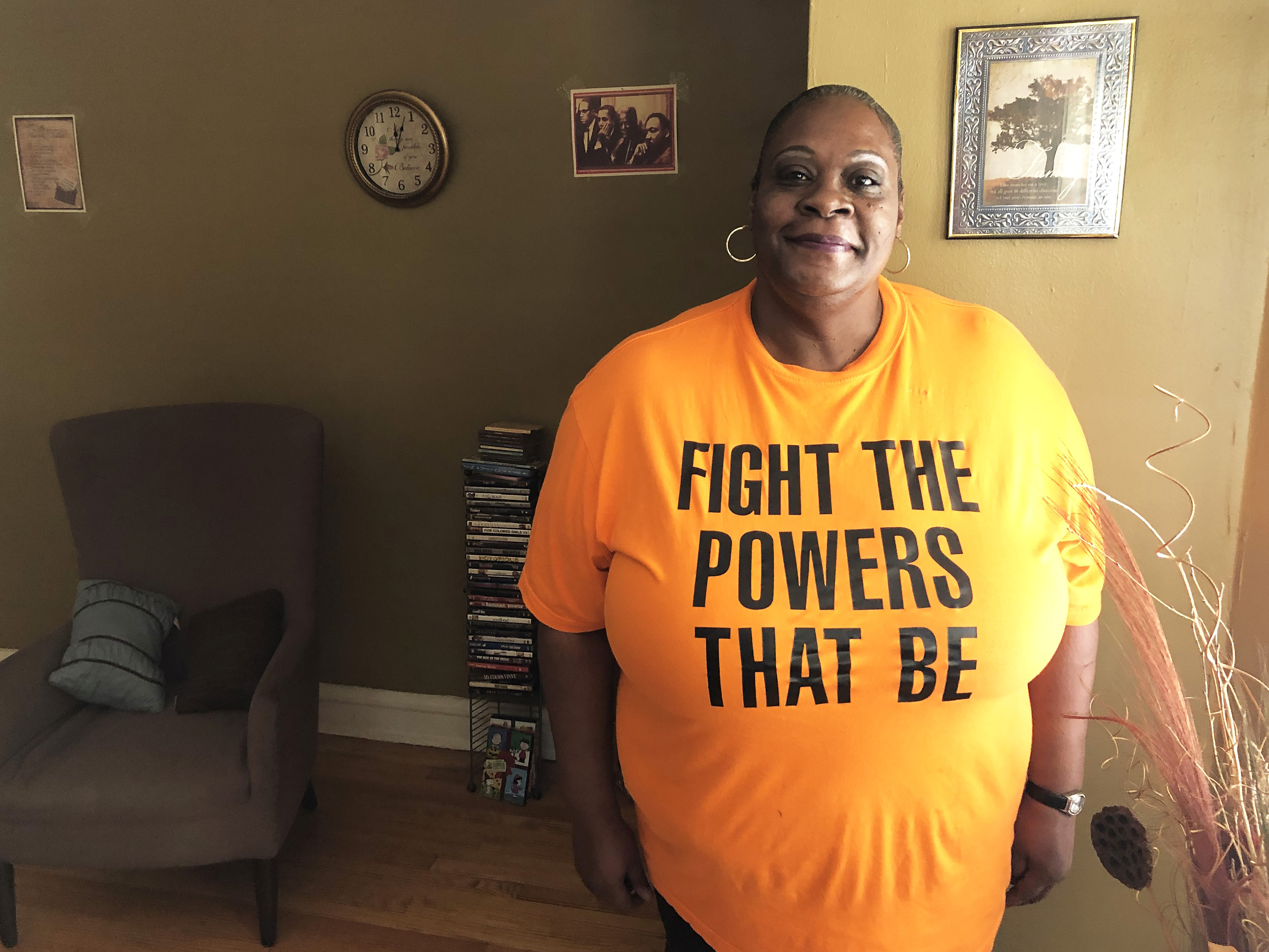 South Shore resident Trina Parker is among 43 participants in a federal housing program to prevent homelessness, helping people in danger of losing their apartments because funding to the agency that operates the program has been eliminated.