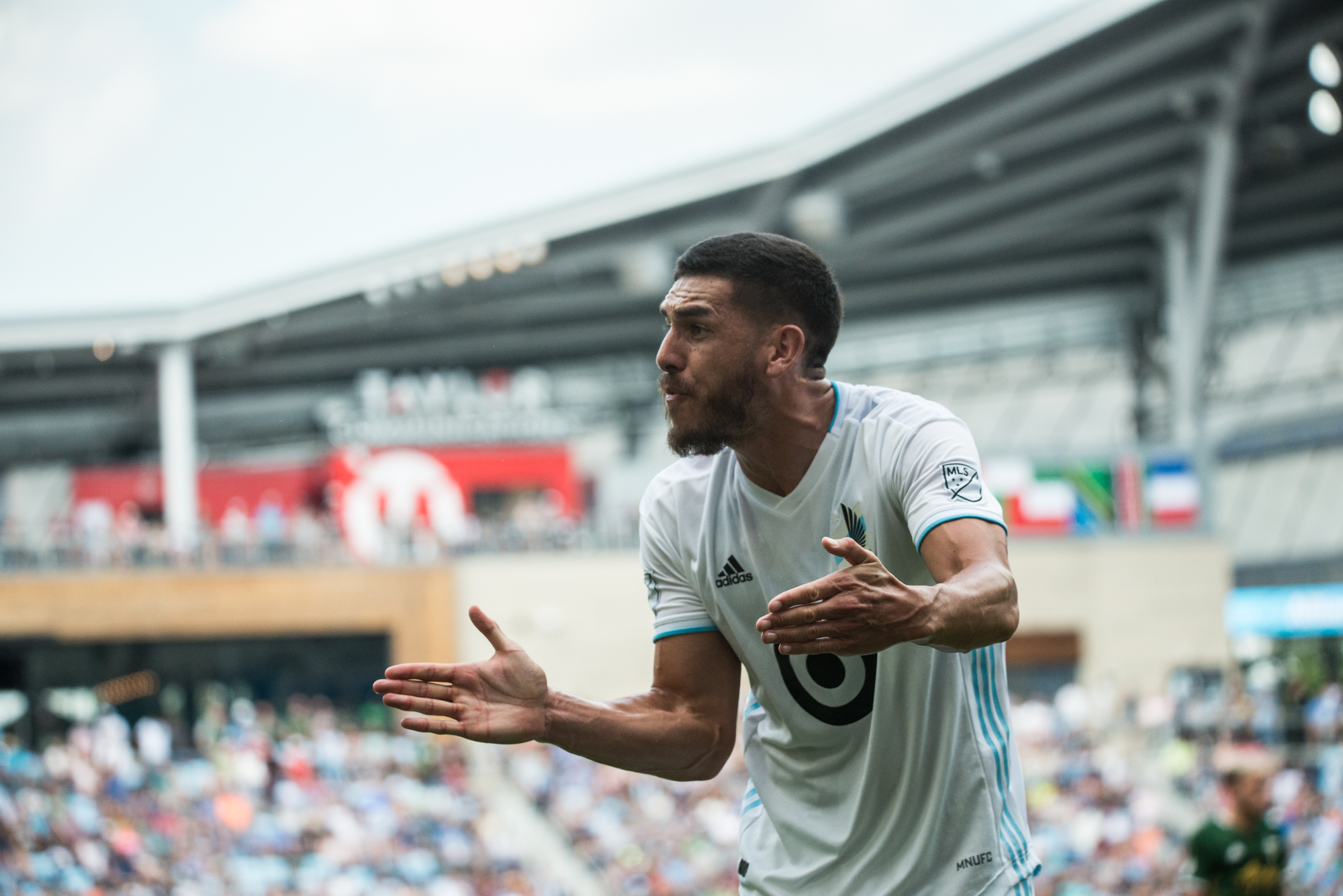 August 4, 2019 - Saint Paul, Minnesota, United States - An MLS match between Minnesota United FC and The Portland Timbers at Allianz Field. (Tim C McLaughlin)