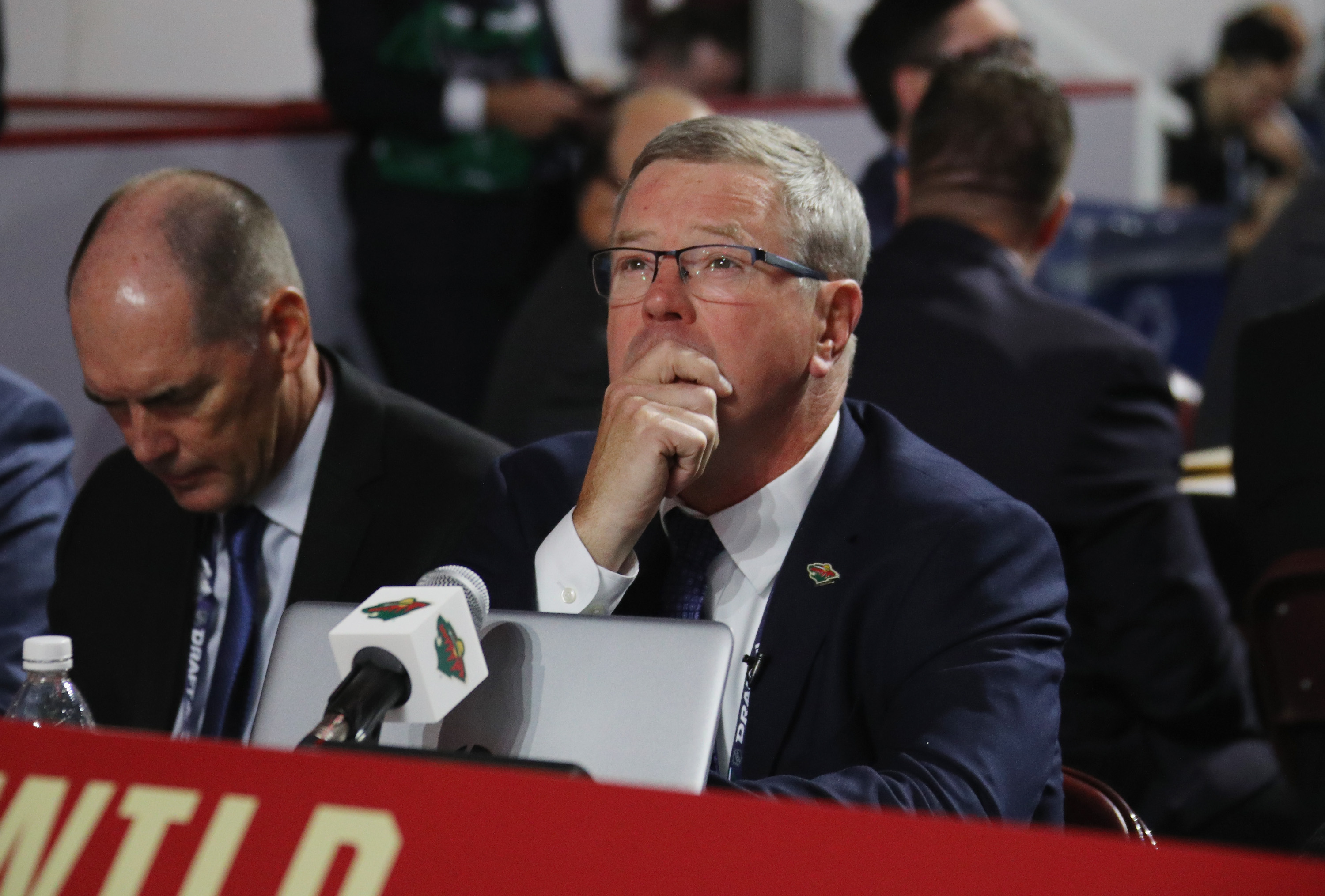 VANCOUVER, BRITISH COLUMBIA - JUNE 22: Paul Fenton of the Minnesota Wild attends the 2019 NHL Draft at the Rogers Arena on June 22, 2019 in Vancouver, Canada.