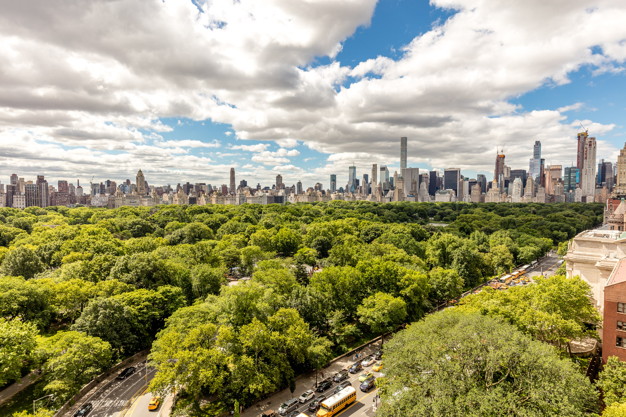 Which NYC neighborhoods offer relief from summer heat?