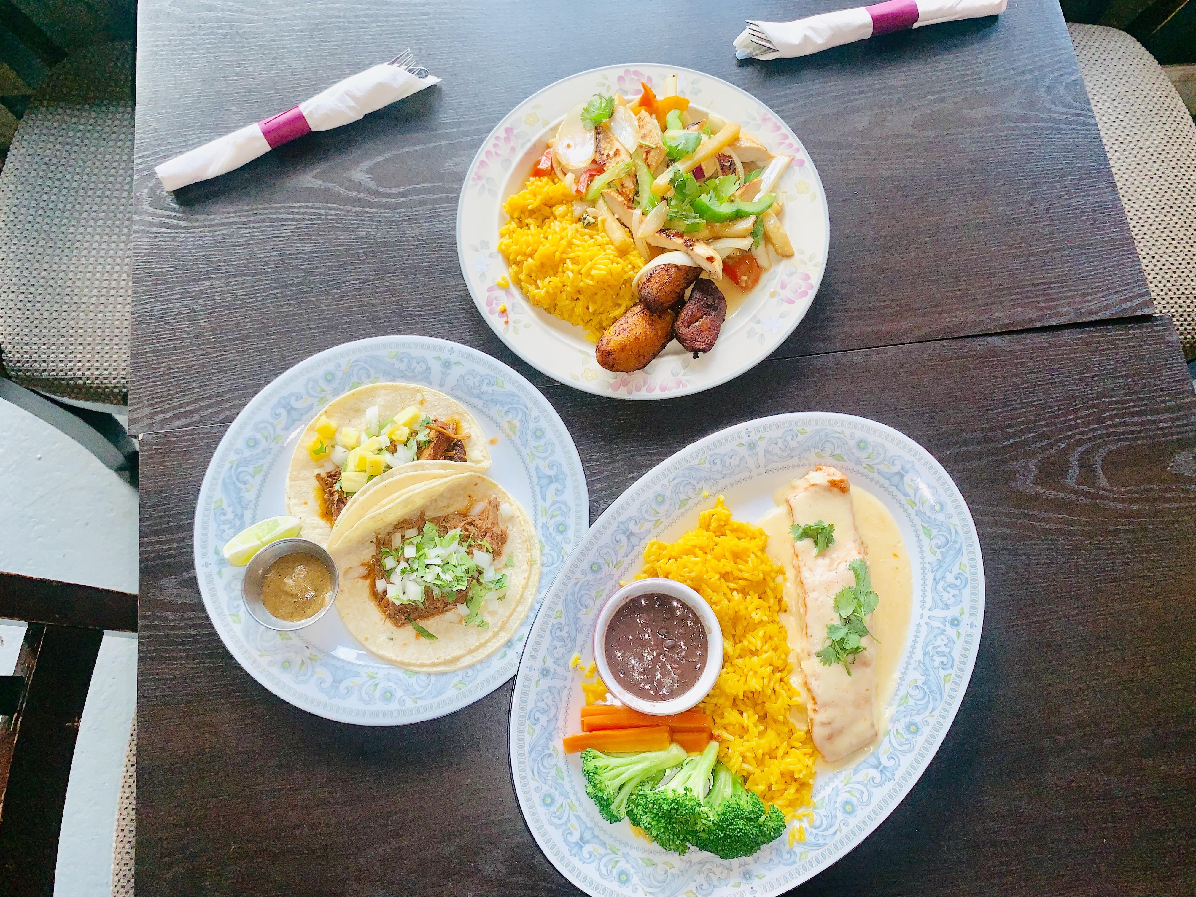 Tacos are now served alongside saltado, top, at El Camino.