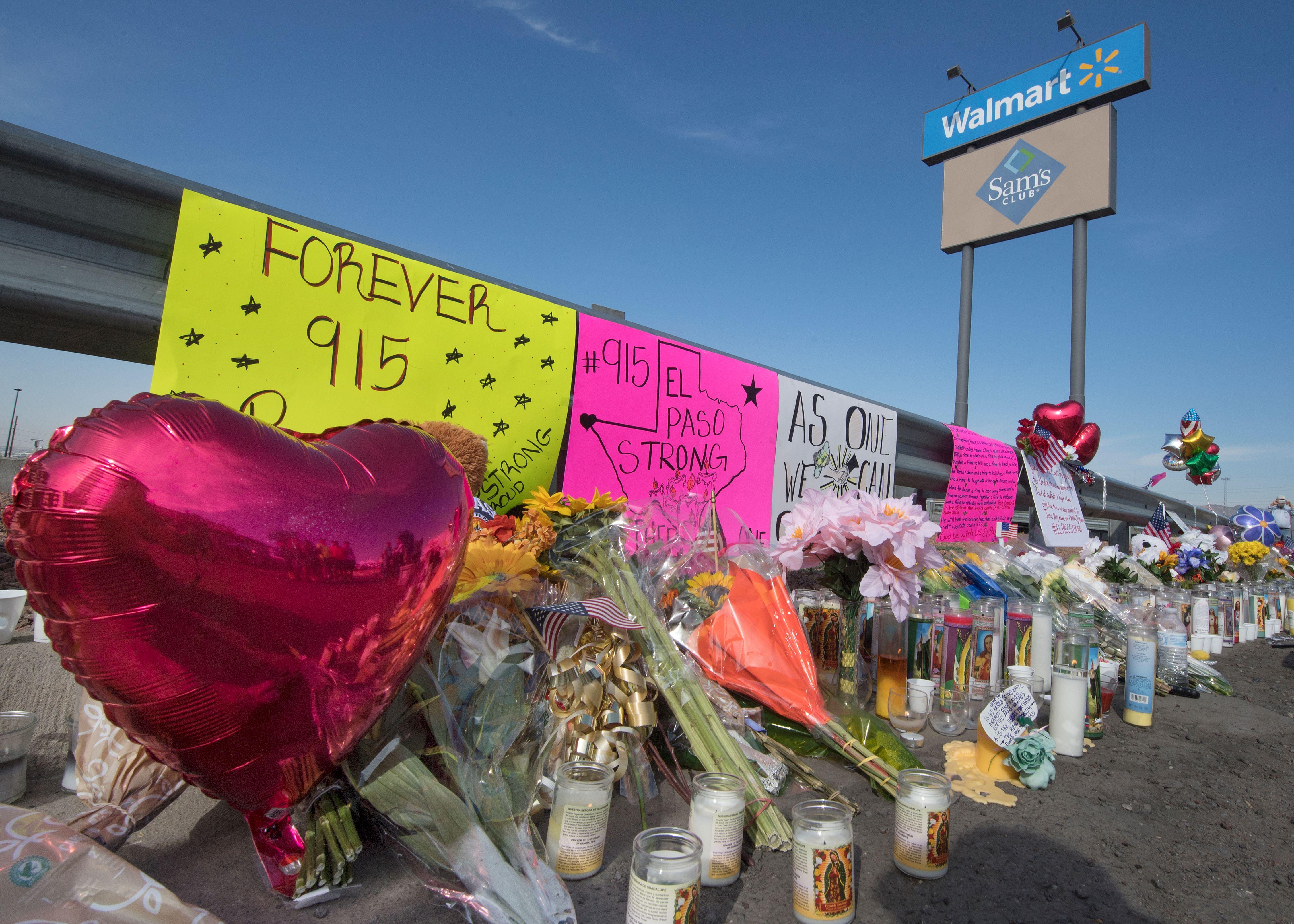 A memorial for the El Paso shooting victims