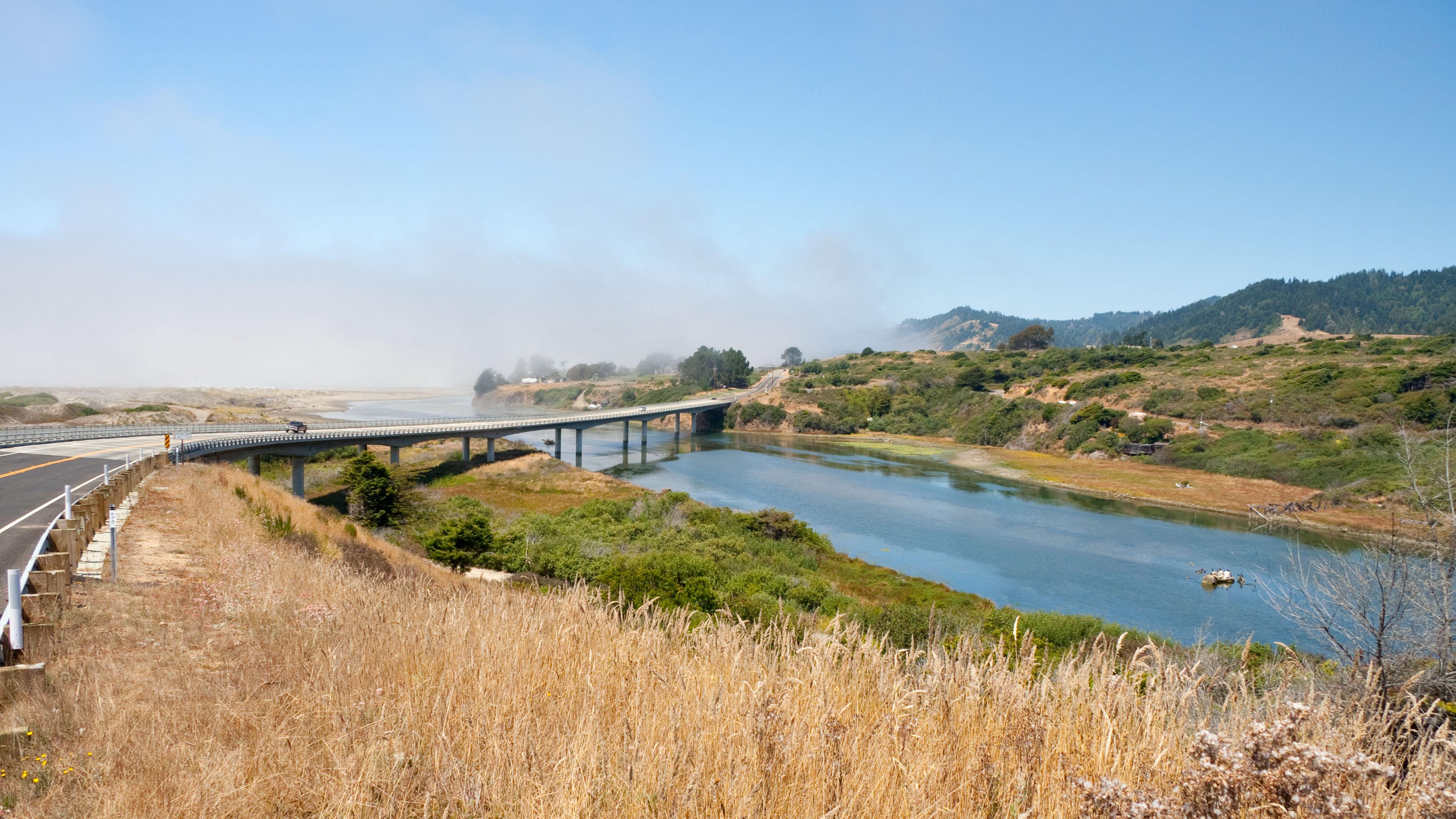 A bridge over California's Ten Mile River.