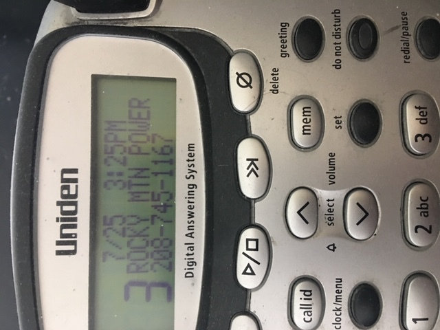 A photo of the caller ID from a scam phone call made to the Hair Station salon in Bountiful. The Utah Division of Consumer Protection received a report about the spoof call allegedly from Rocky Mountain Power claiming their bill was overdue. The automated