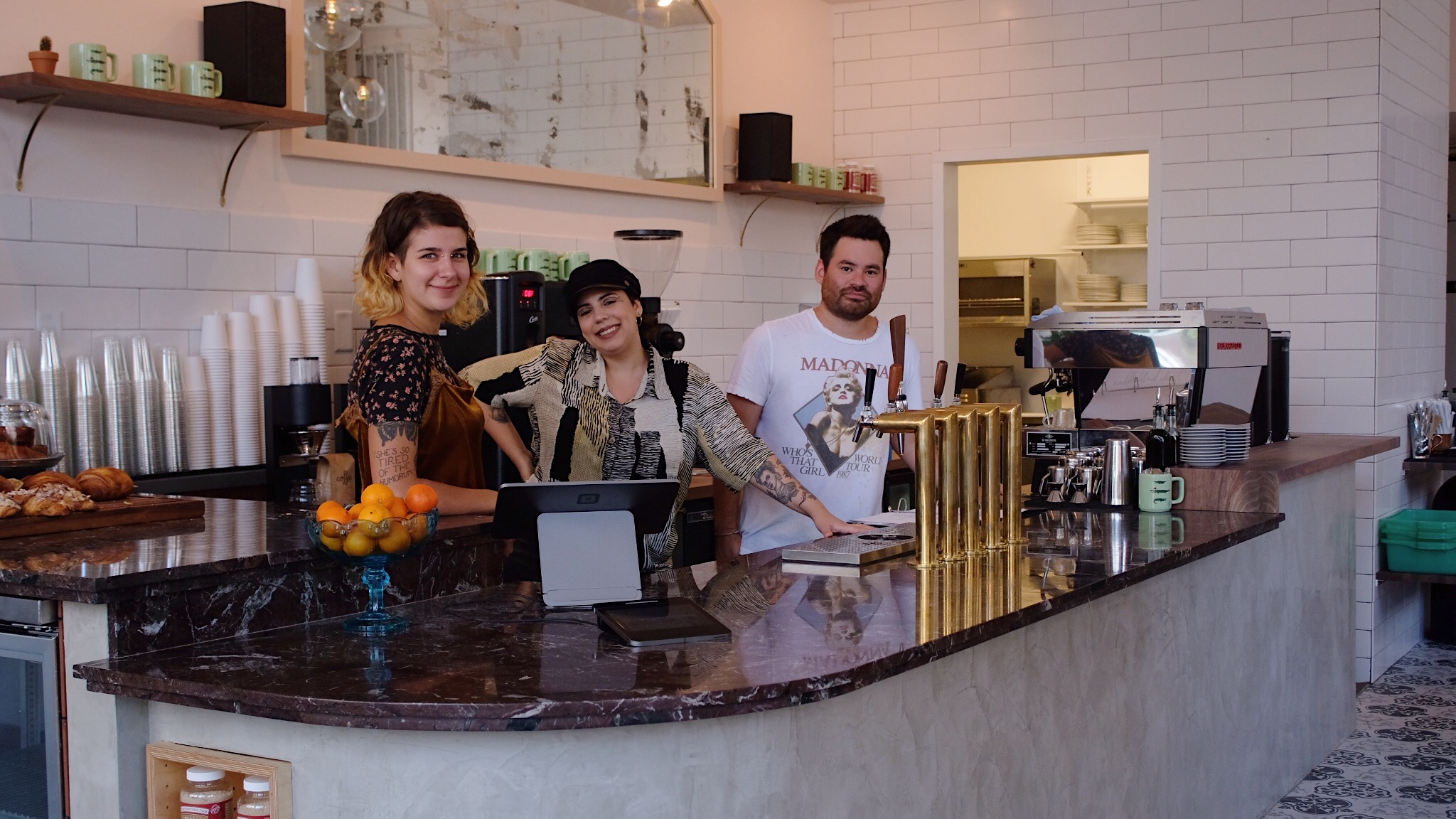 Staff at the new Congregation Coffee in the CBD
