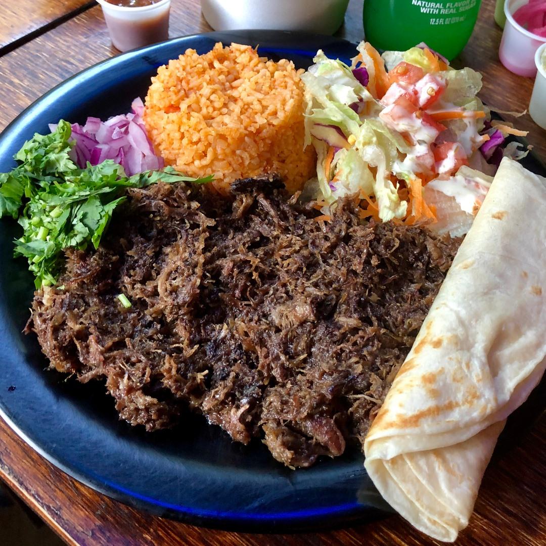 Barbacoa tacos at Maria's Taco Xpress