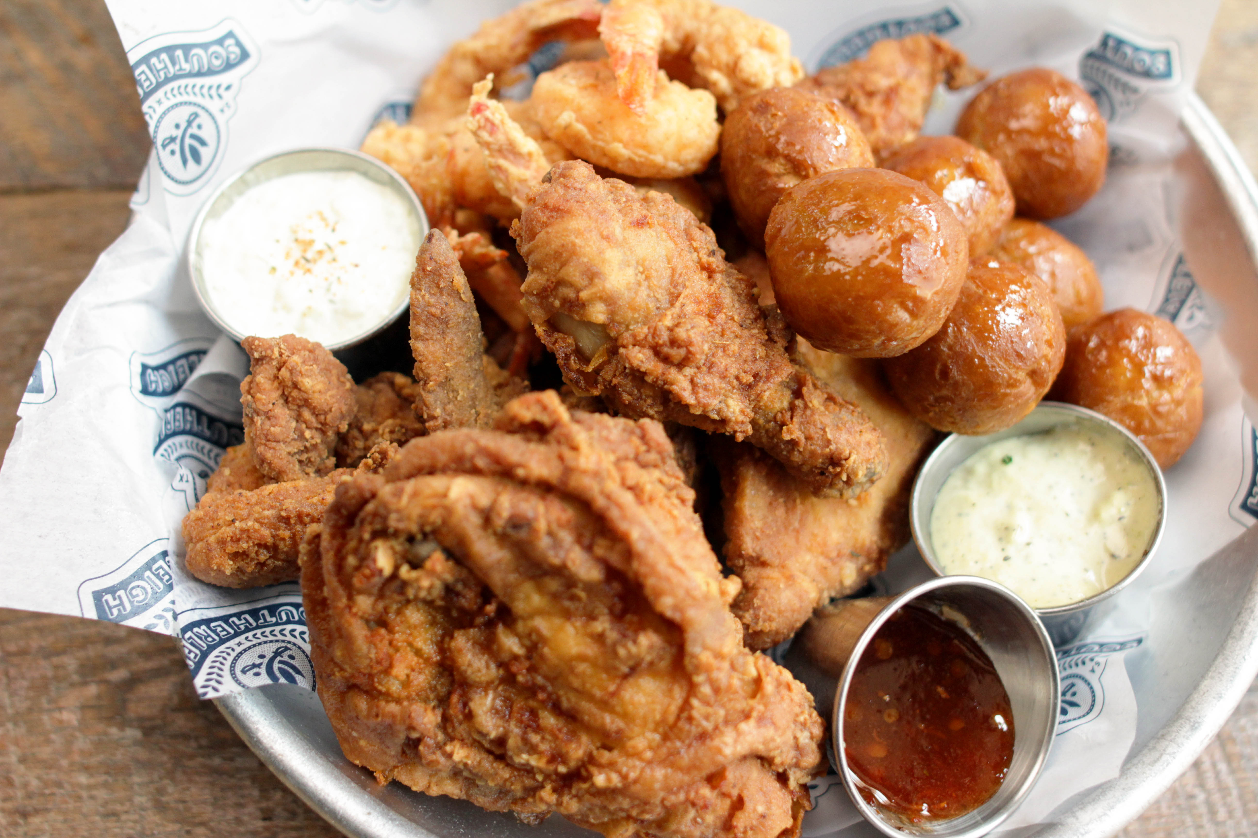 Fried chicken and sides from Southerleigh Bird & Biscuit