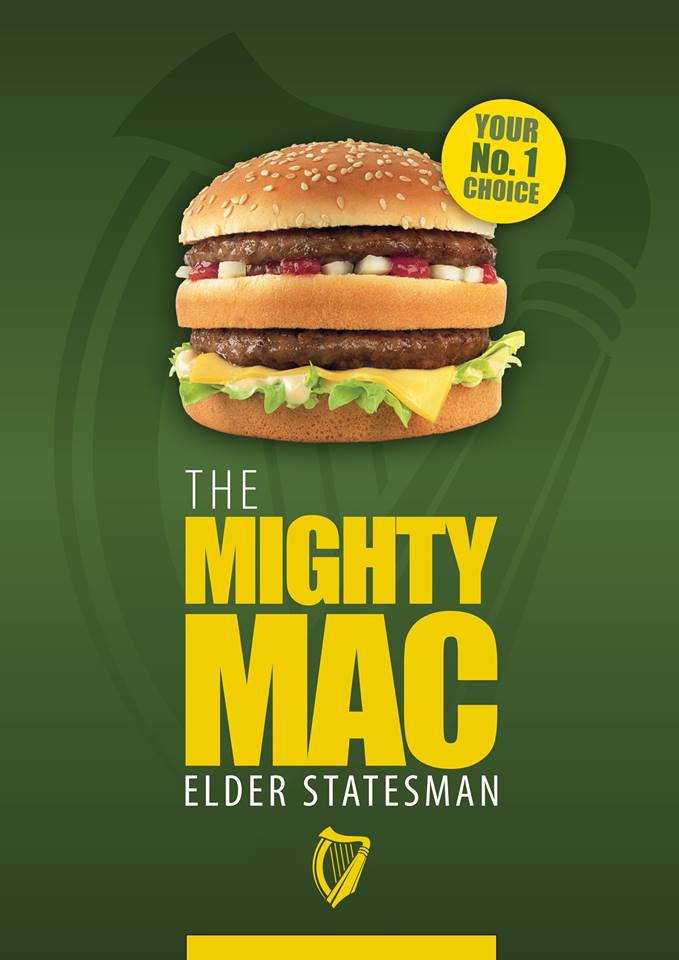 """Irish fast food giant Supermac's signature burger is the Mighty Mac, which had caused McDonald's to challenge its use of the suffix """"Mac"""" as well its use of the prefix """"Mc"""" in some cases"""