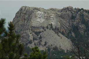 Iron Mountain Road between Keystone and Custer State Park offers views of Mount Rushmore.