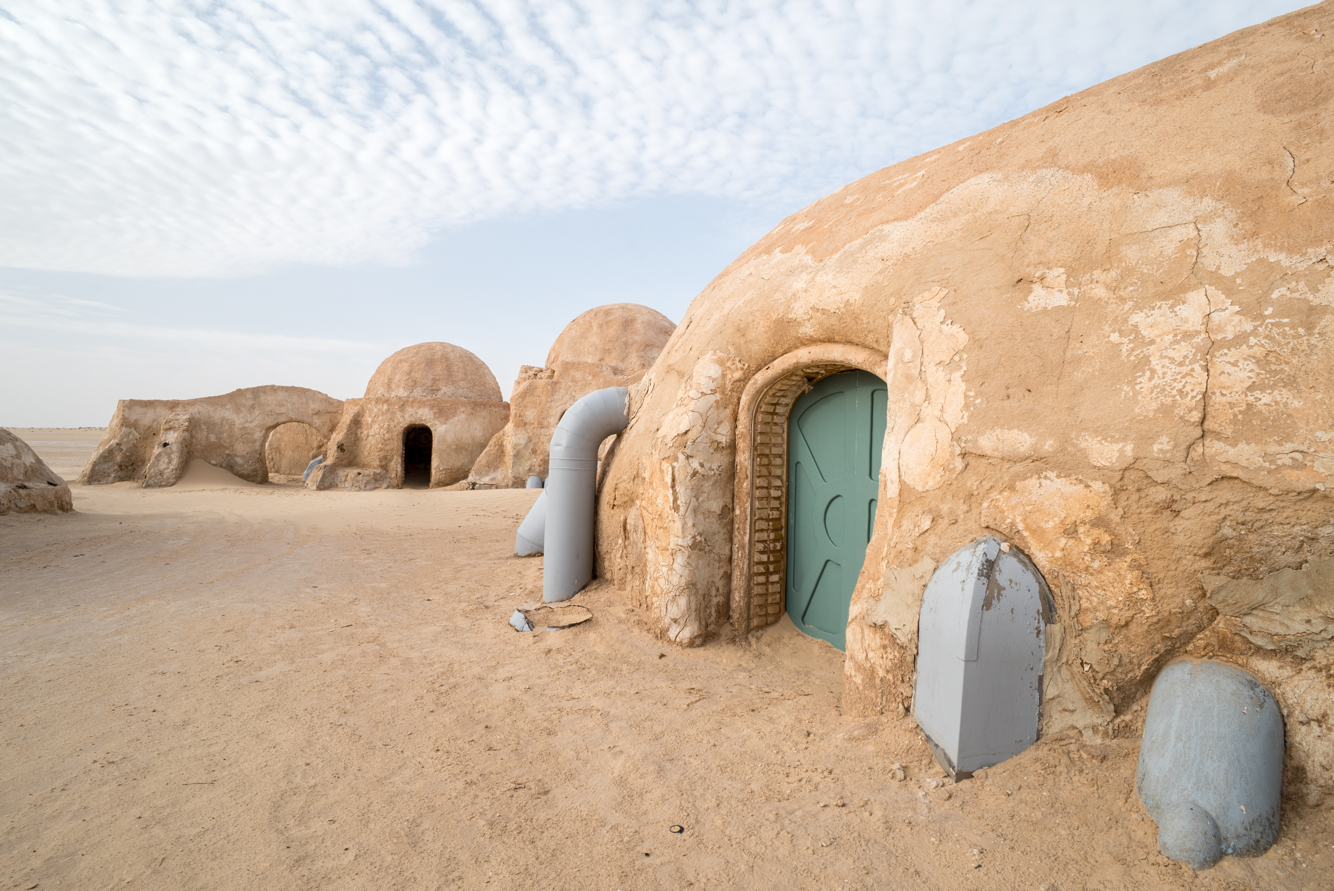 A series of desert dome homes in Tunisia.