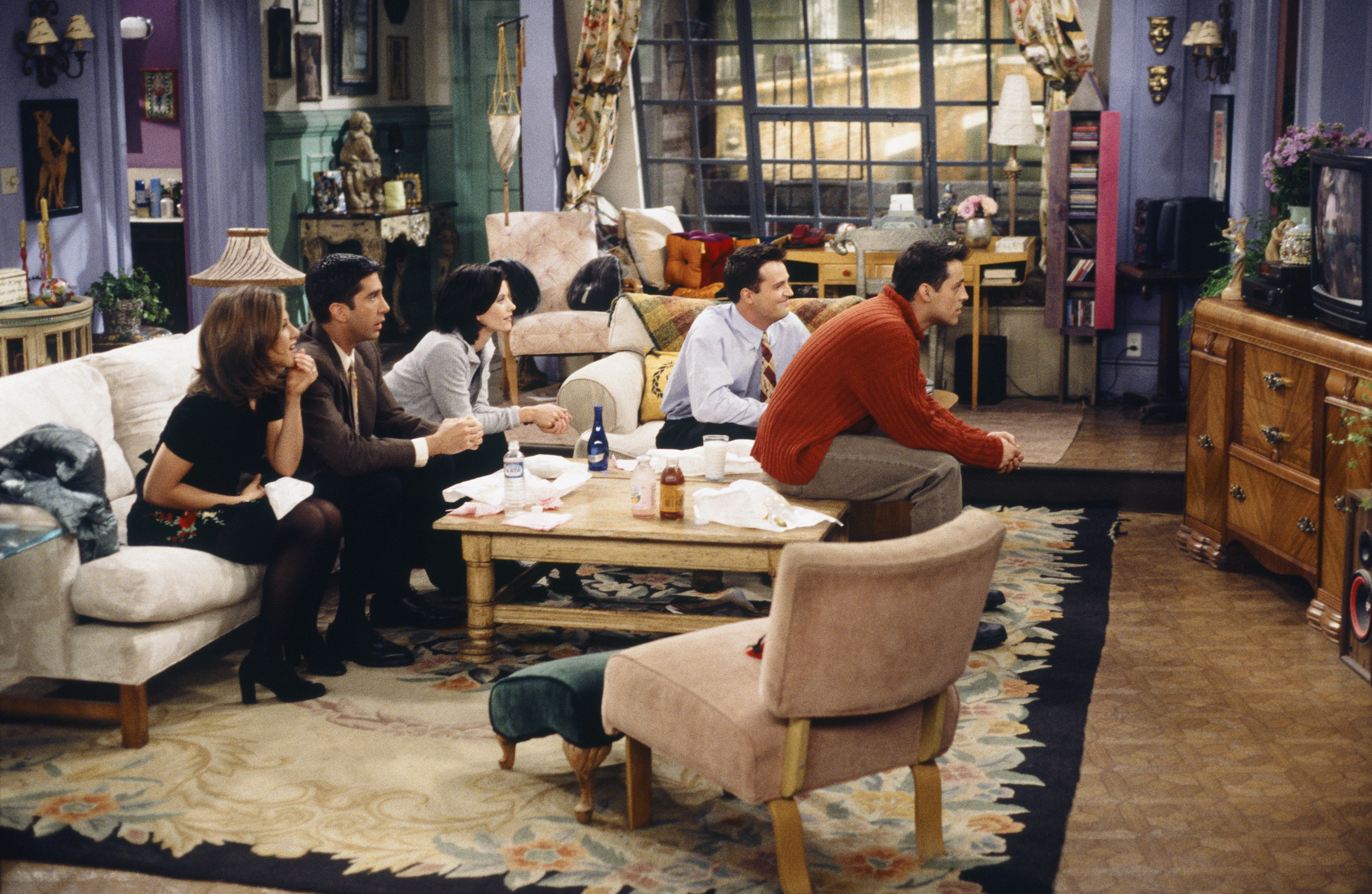An episode of Friends, featuring the cast watching TV.