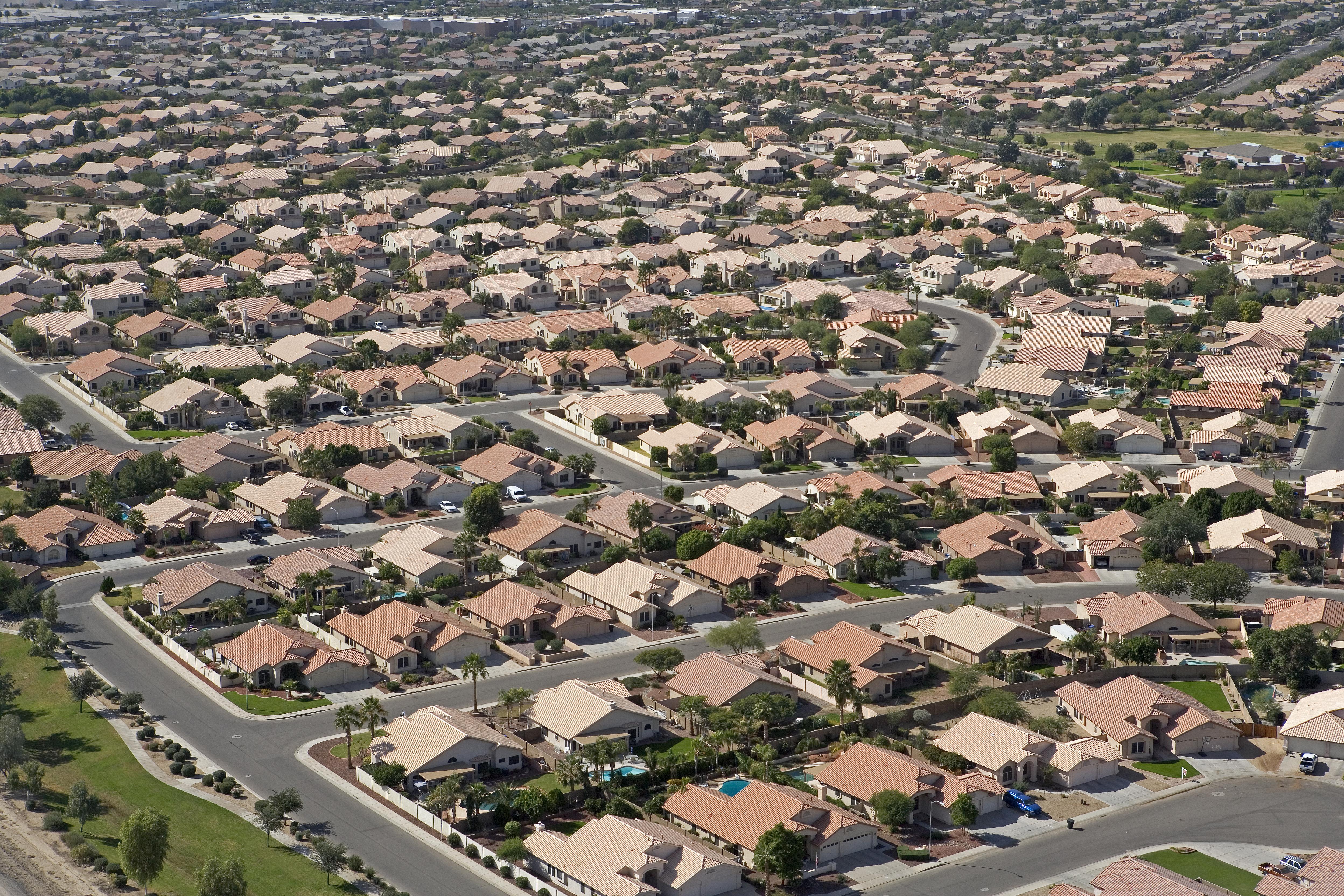 A sprawling housing development in suburban Arizona