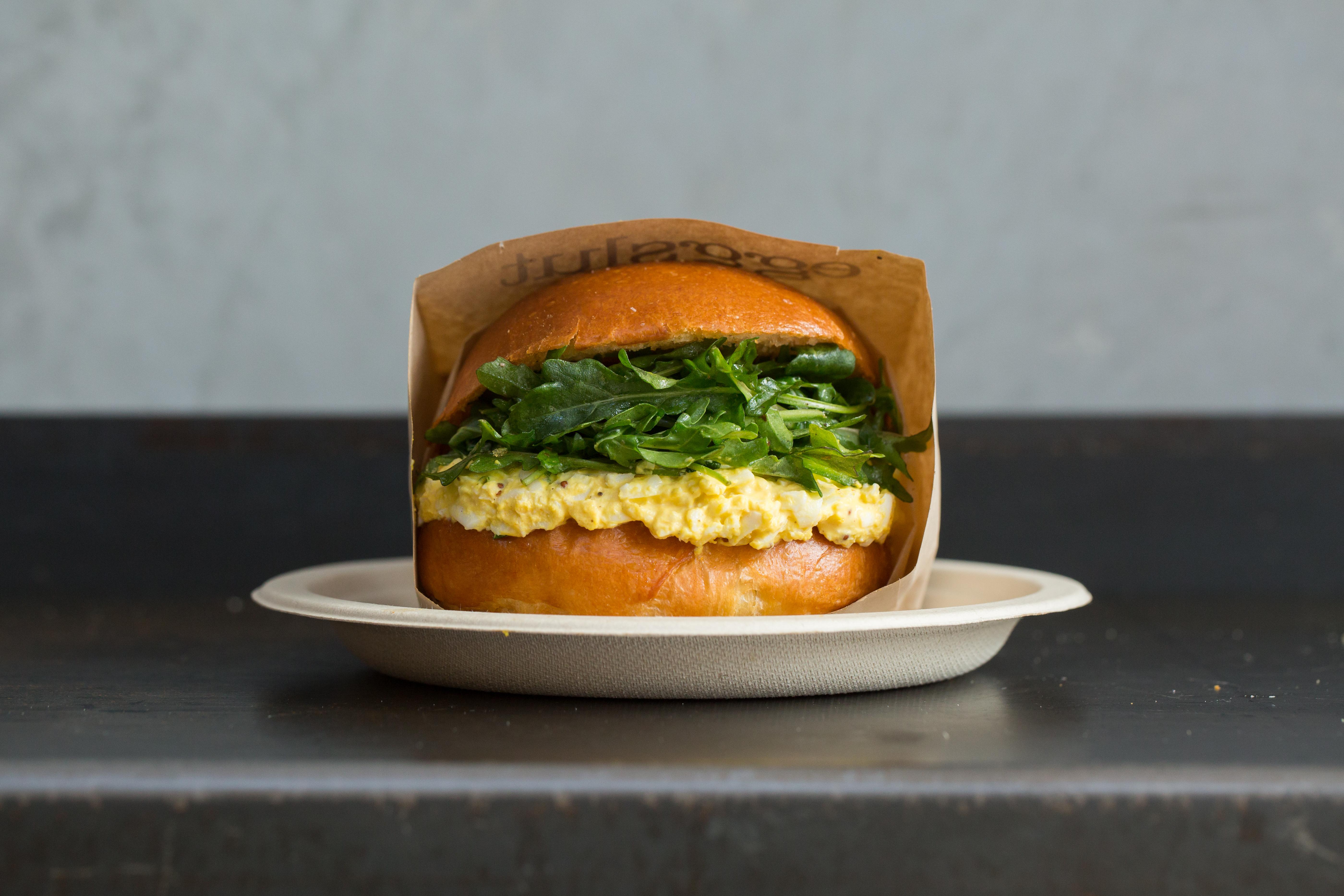 The Fairfax scrambled egg bun at Eggslut restaurant, now open in Notting Hill
