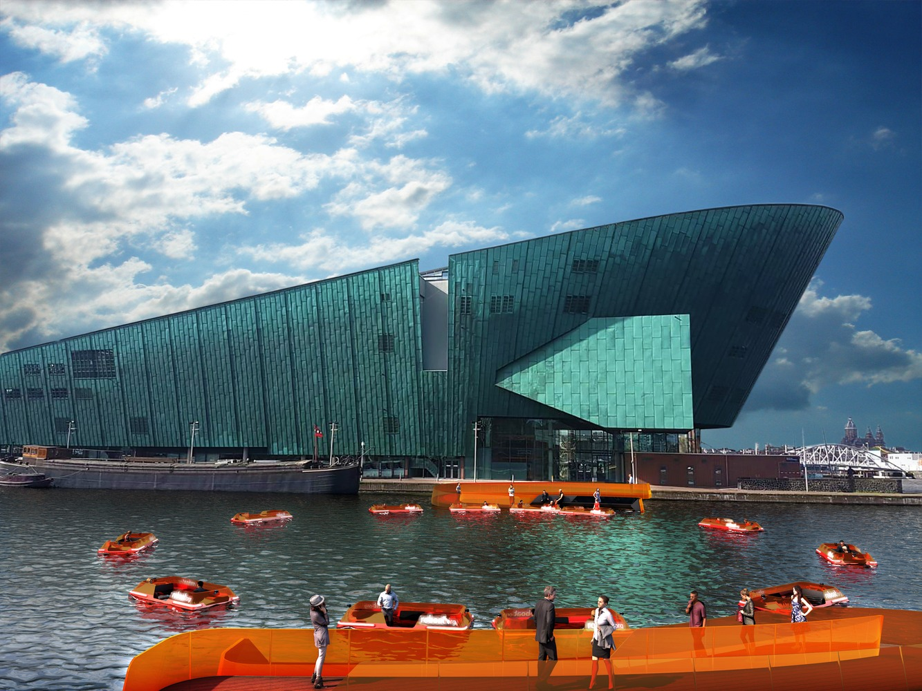 Amsterdam considering a new bridge made from autonomous boats
