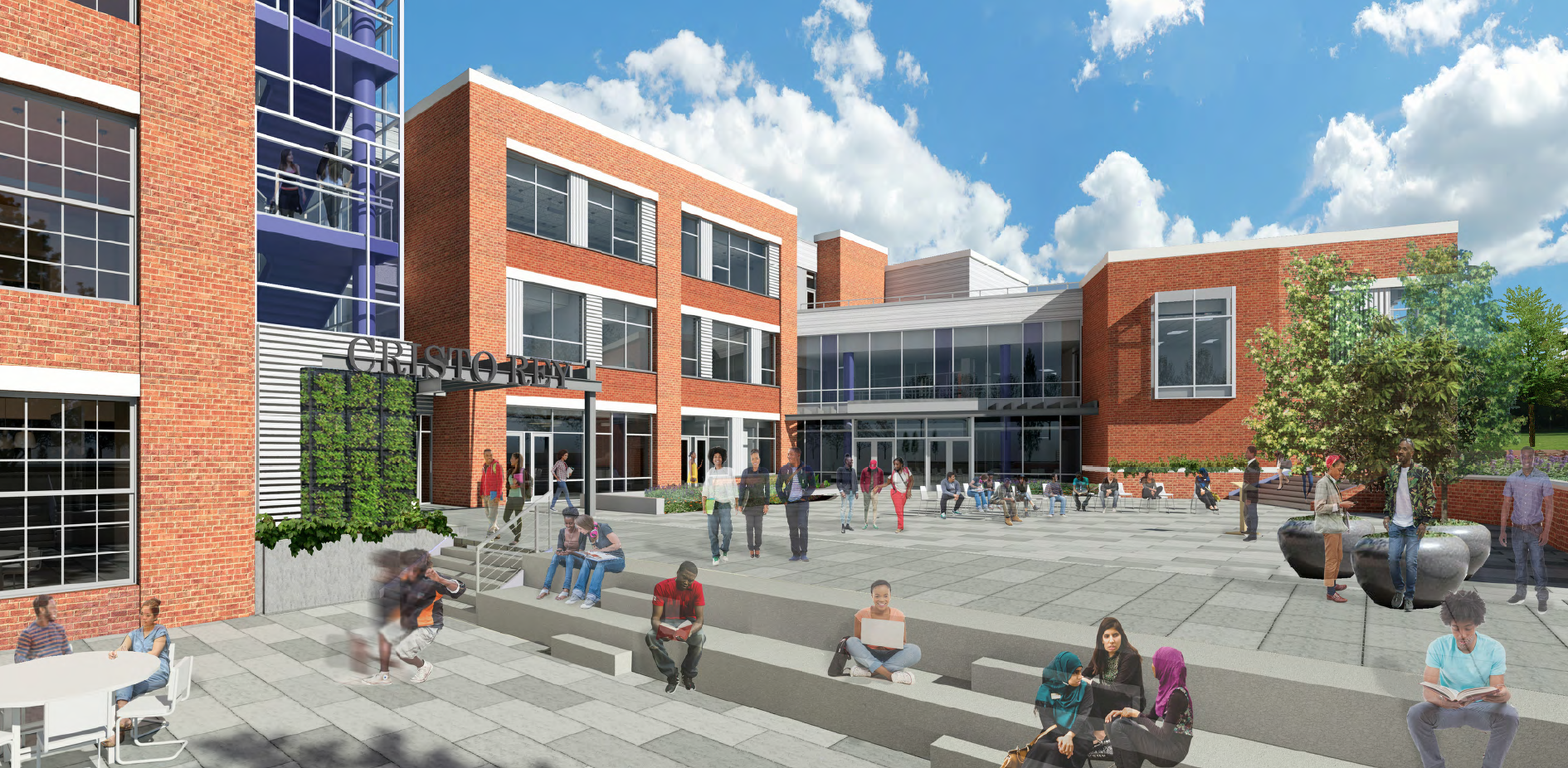 Rendering of the Cristo Rey campus