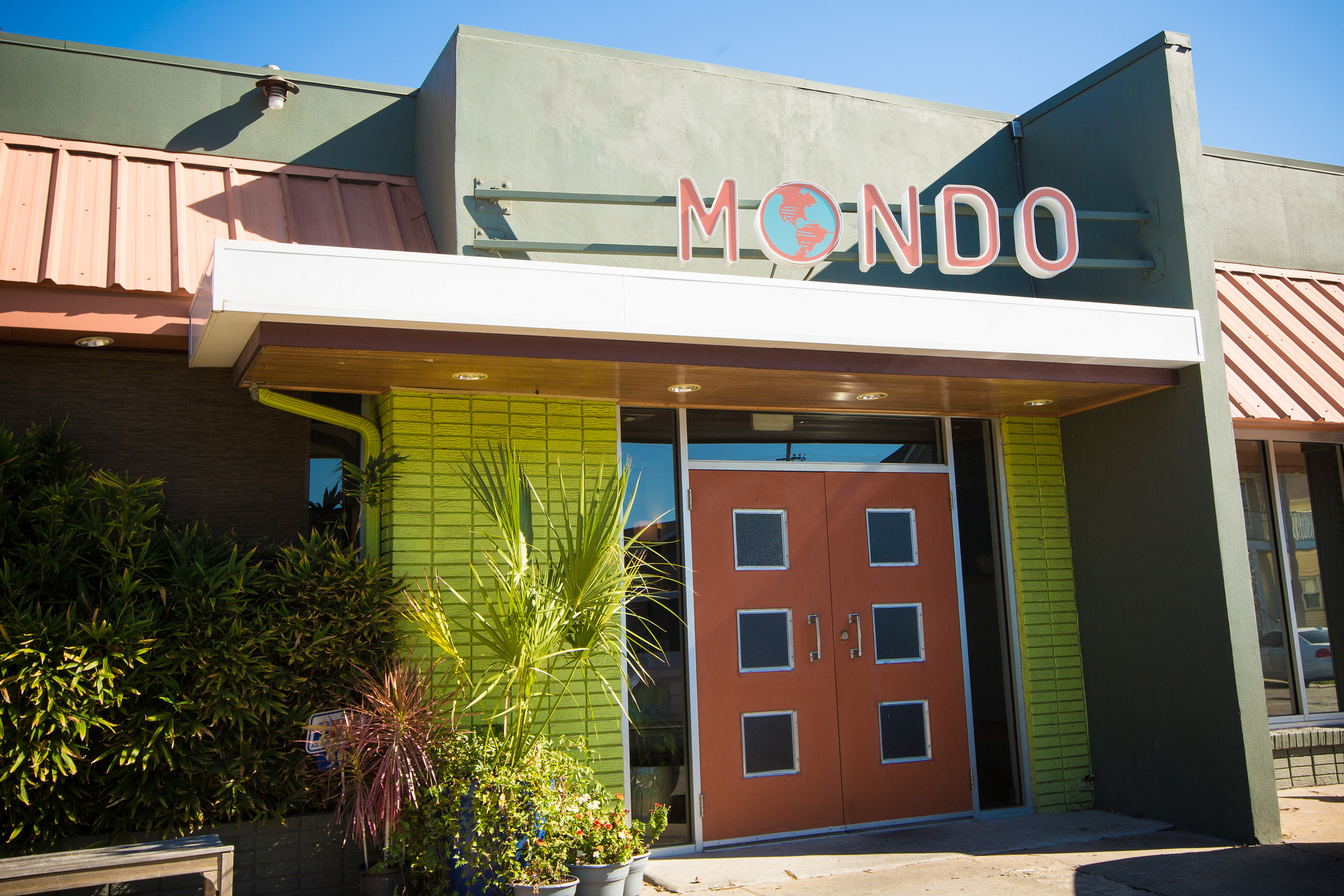 The exterior of Mondo restaurant